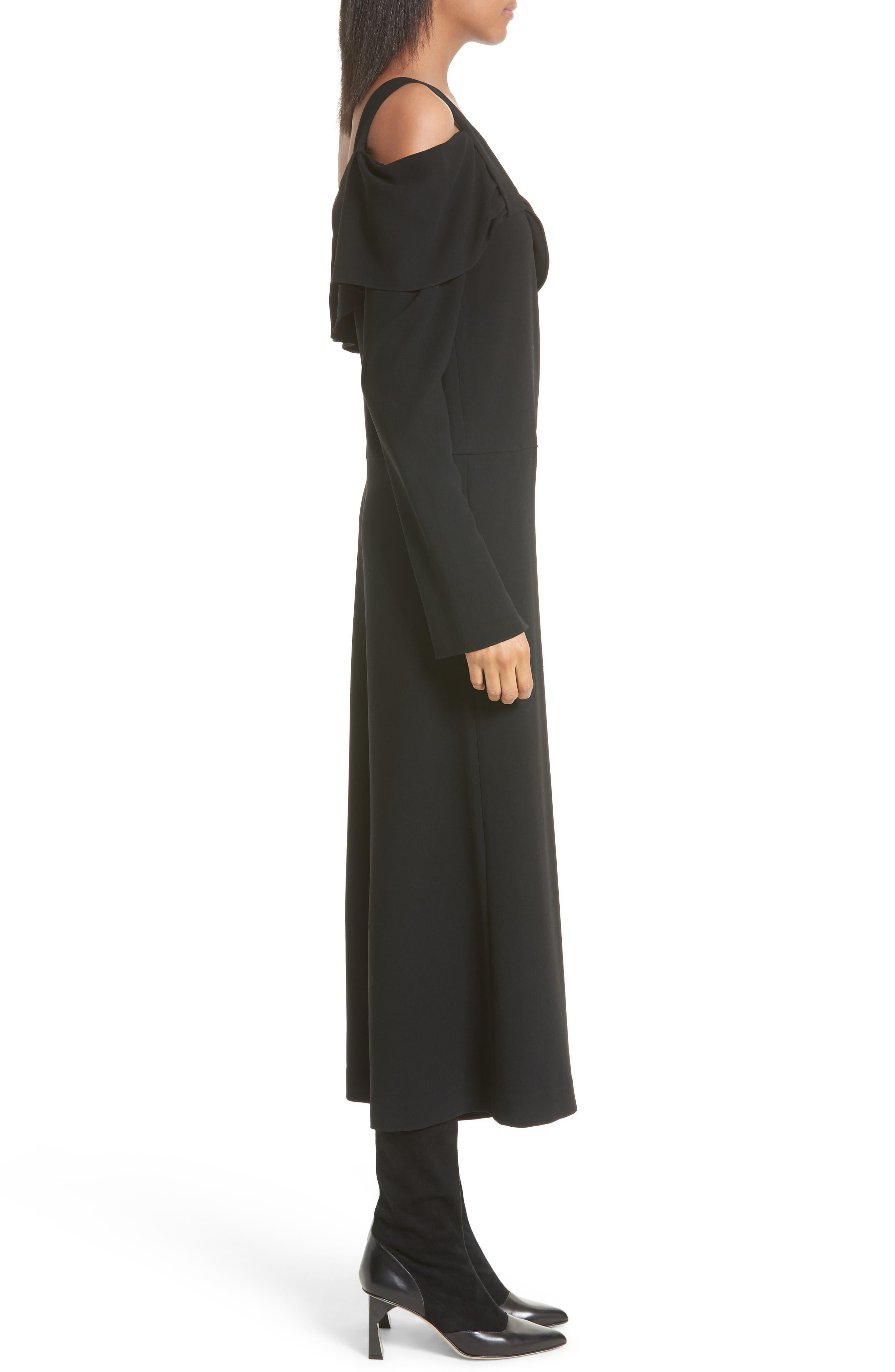 Alternate Image 3  - Tibi Off the Shoulder Crop Jumpsuit
