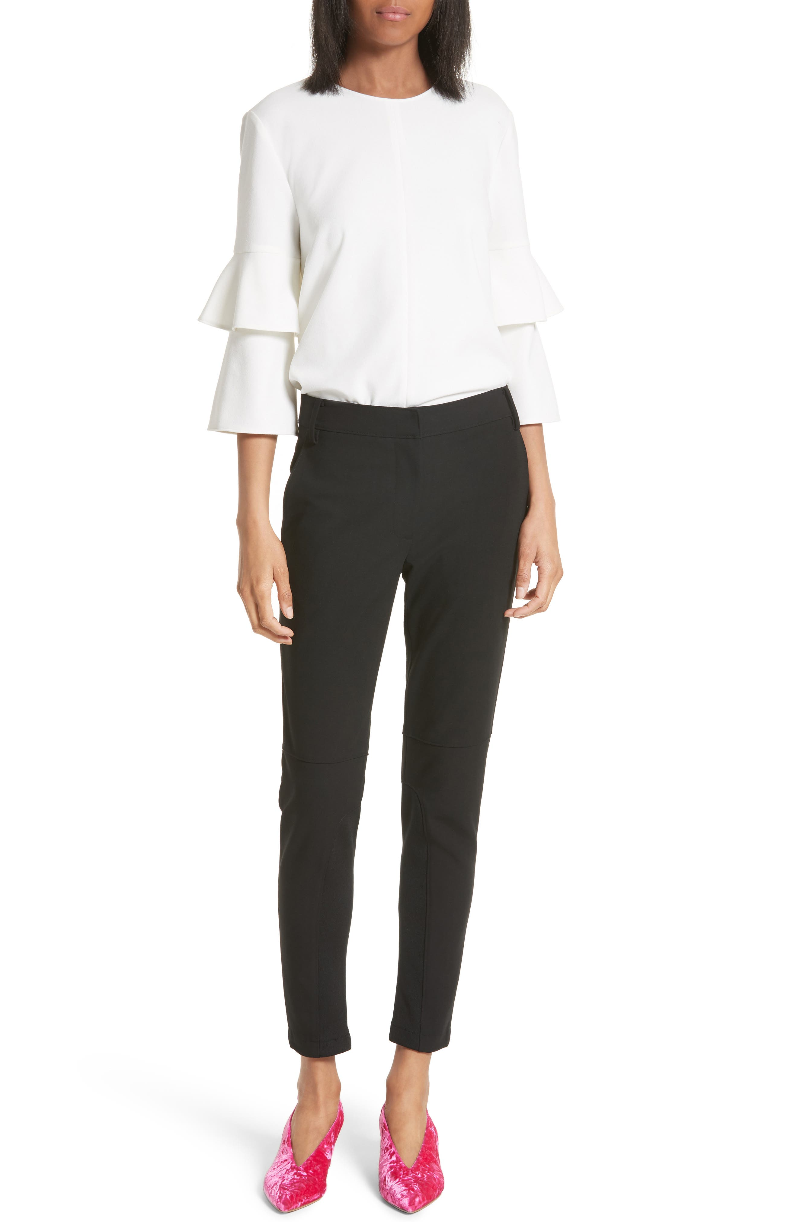 Alternate Image 2  - Tibi Anson Stretch Insert Ankle Pants