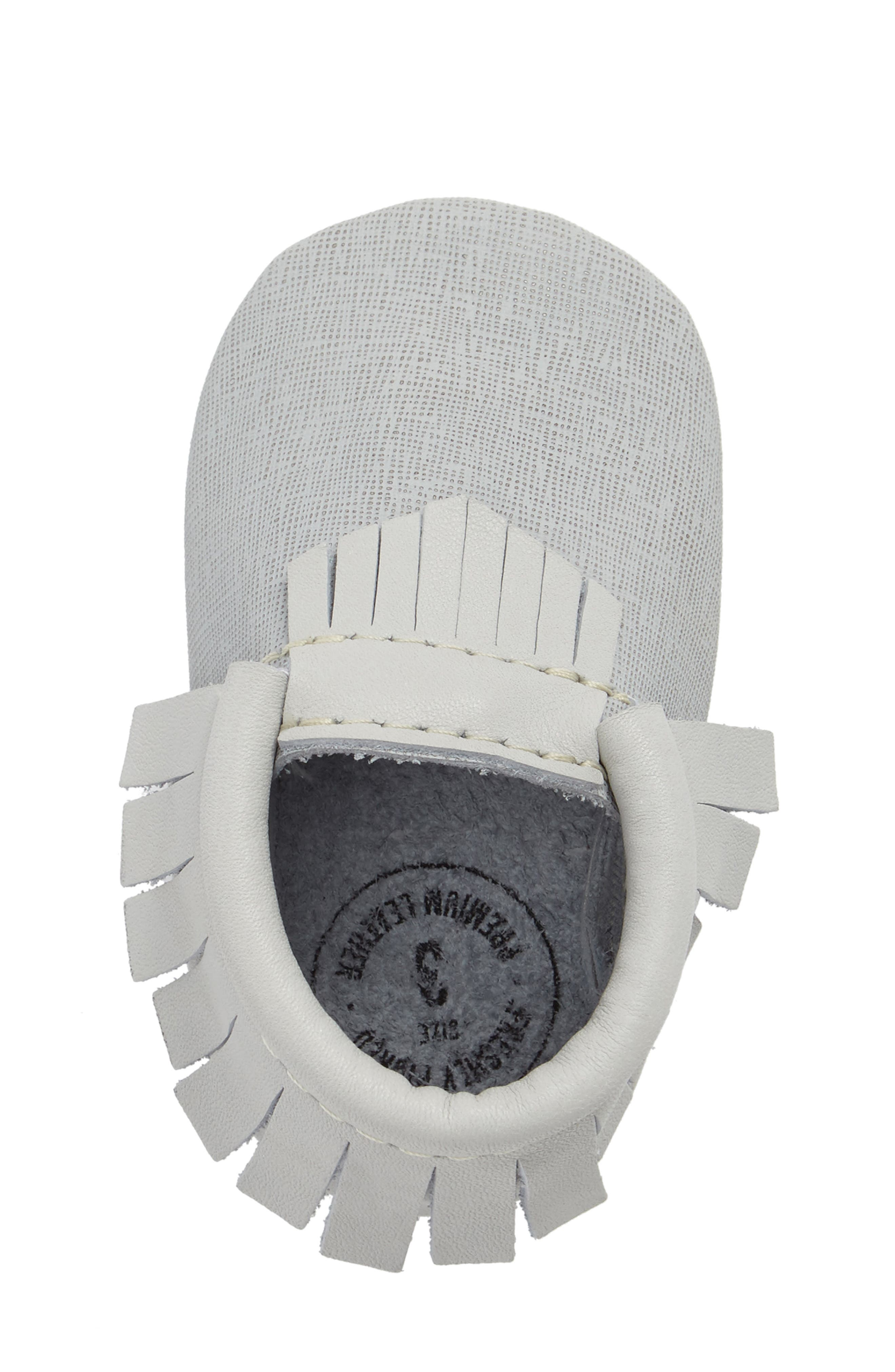 Fringe Moccasin,                             Alternate thumbnail 5, color,                             Grey Leather