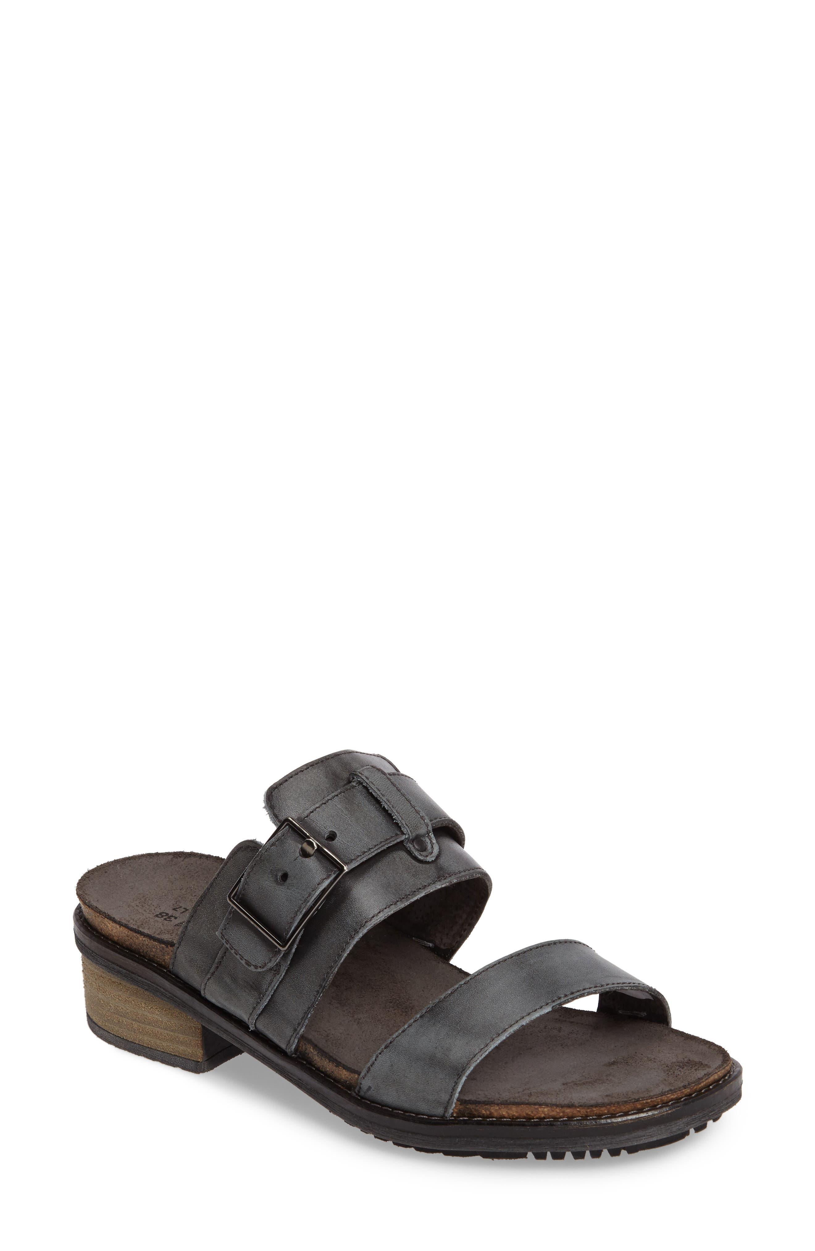 Naot Flower Block Heel Slide Sandal (Women)