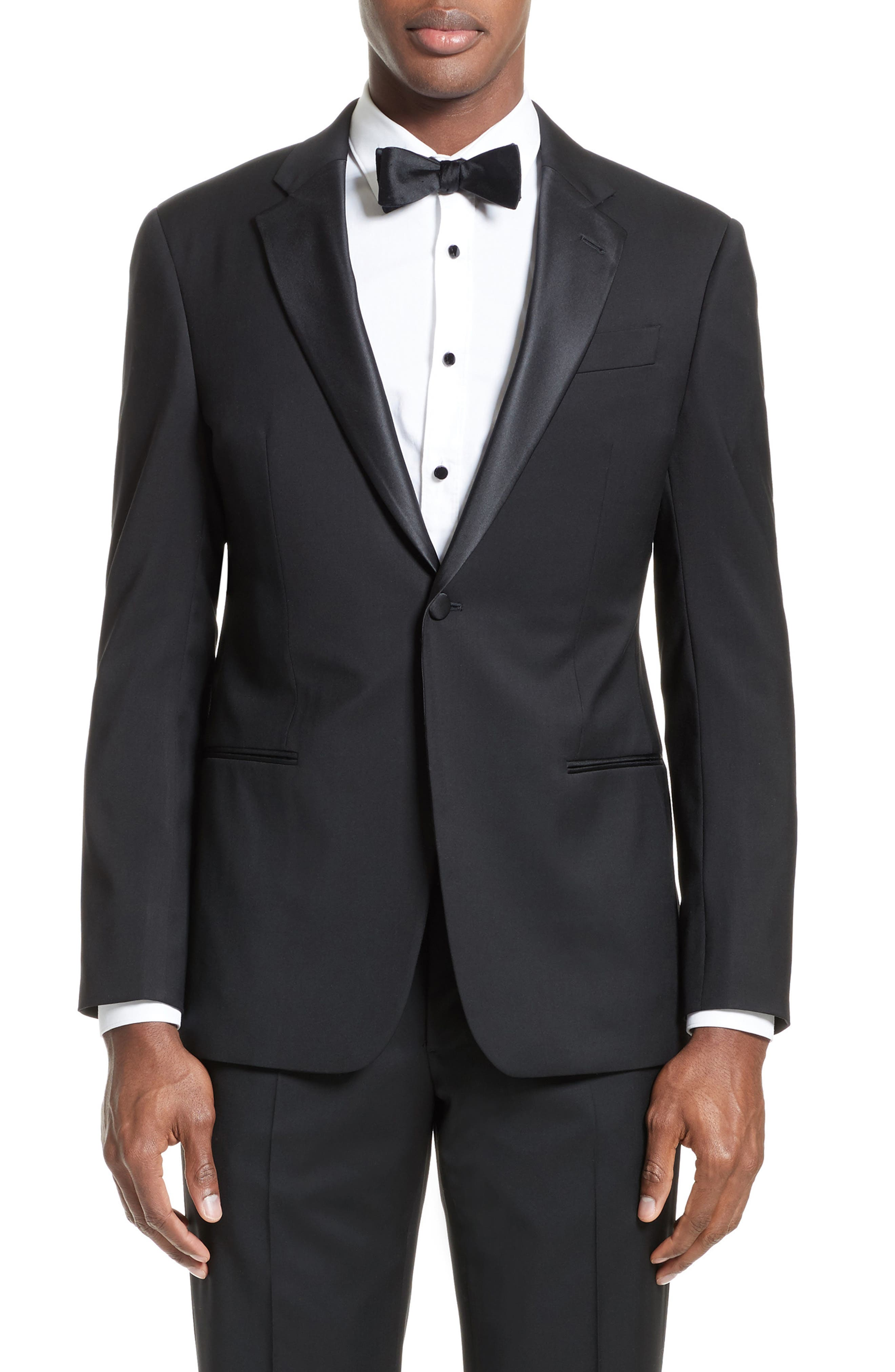Alternate Image 5  - Armani Collezioni Trim Fit Wool Tuxedo