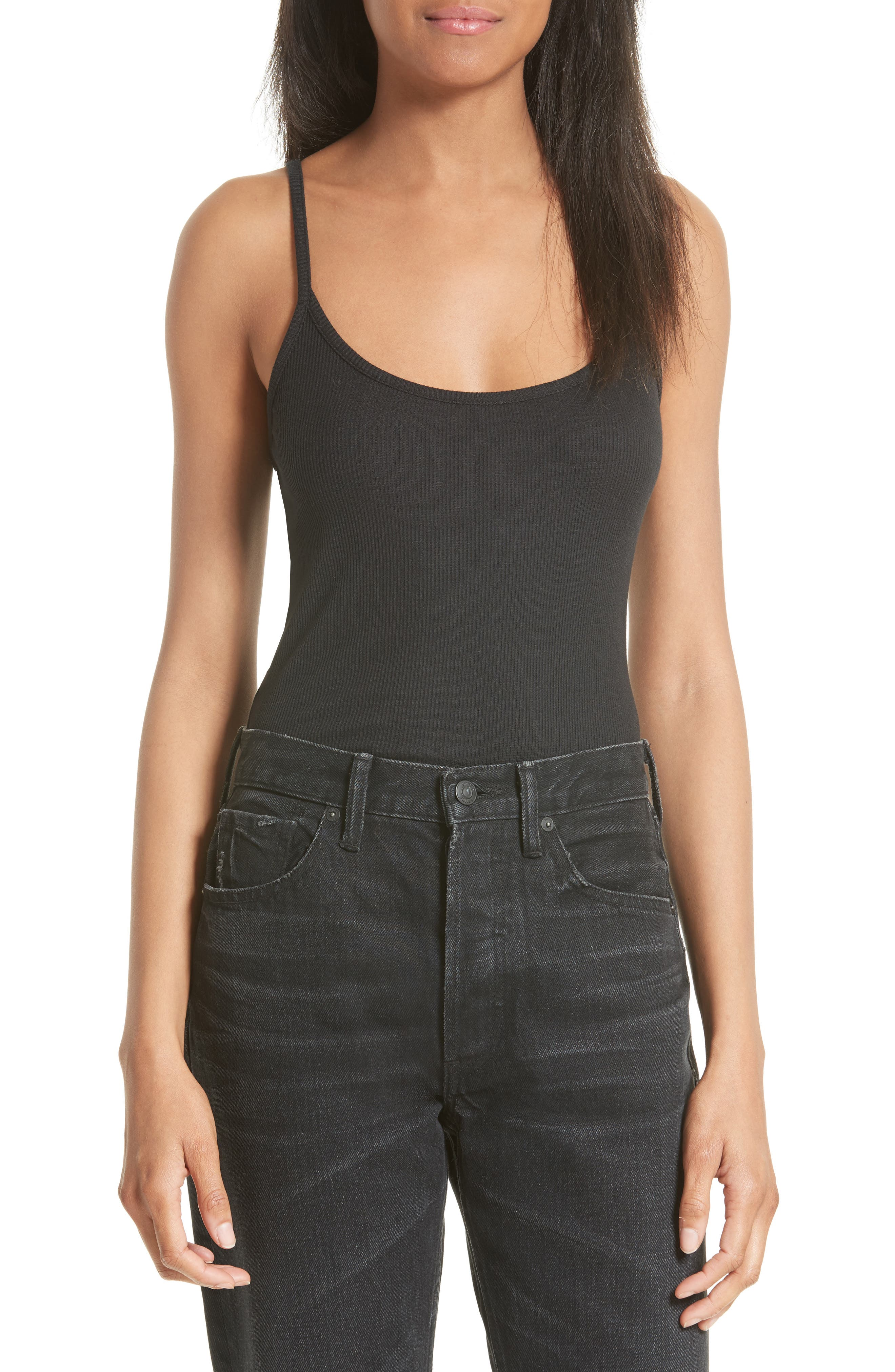 Camisole Bodysuit,                         Main,                         color, Black