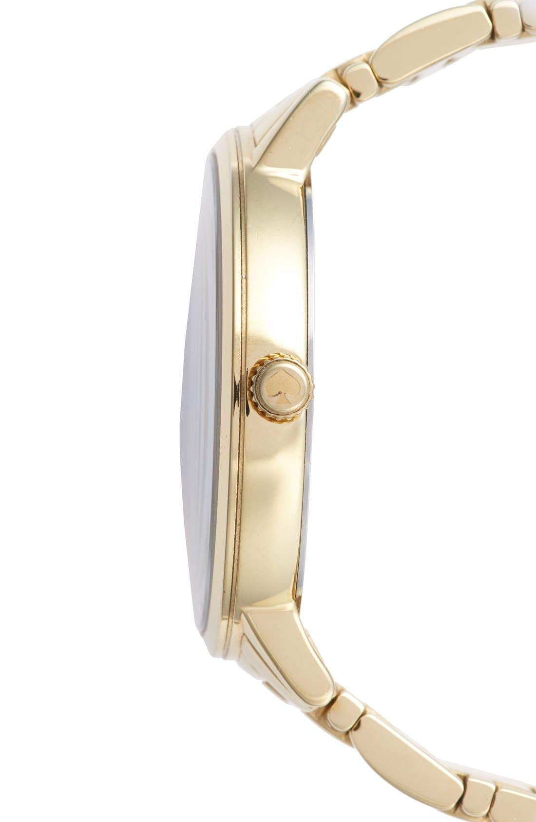 Alternate Image 3  - kate spade new york 'gramercy' round bracelet watch, 38mm
