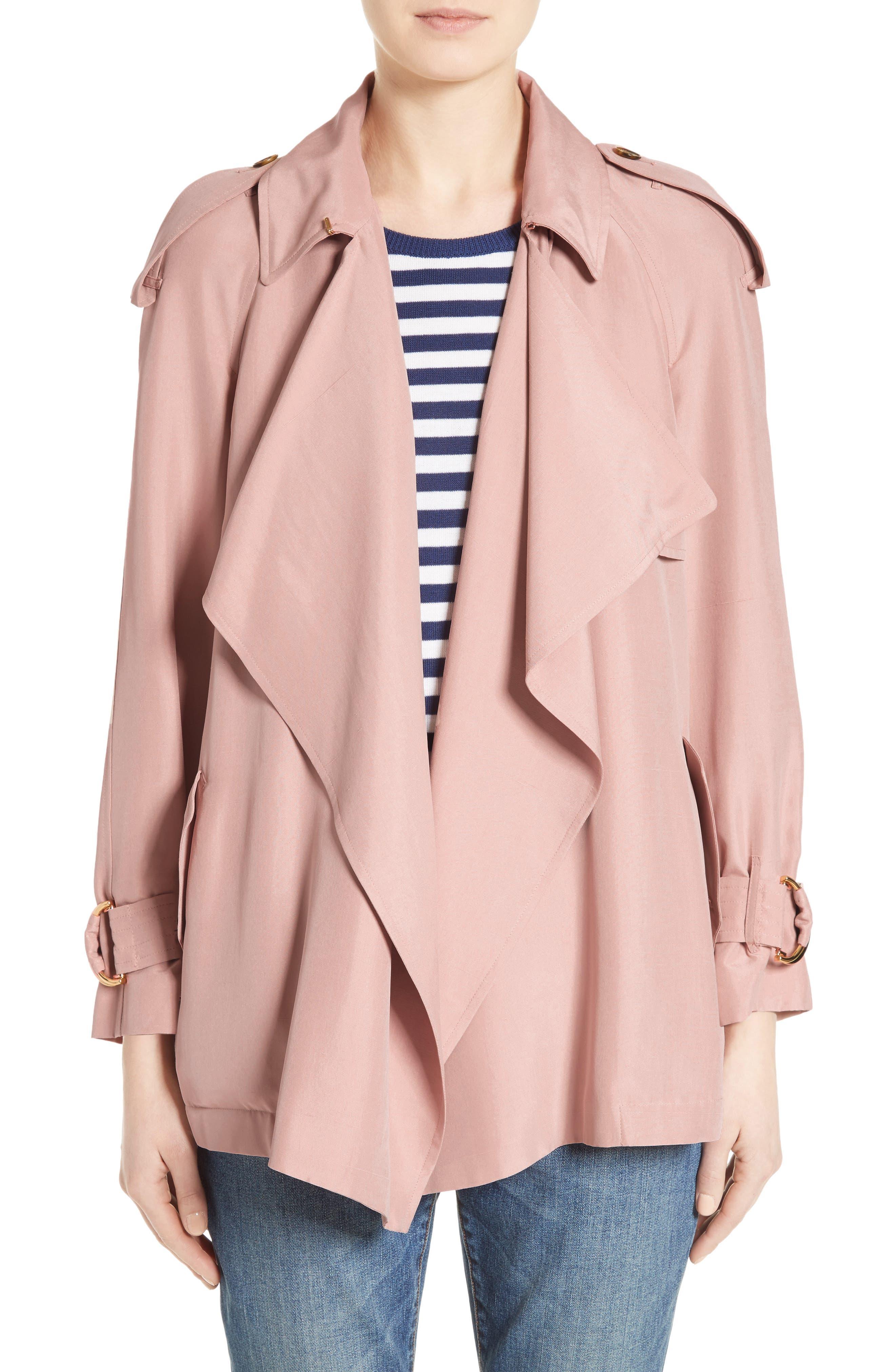 Main Image - Burberry Sanbridge Silk Wrap Coat