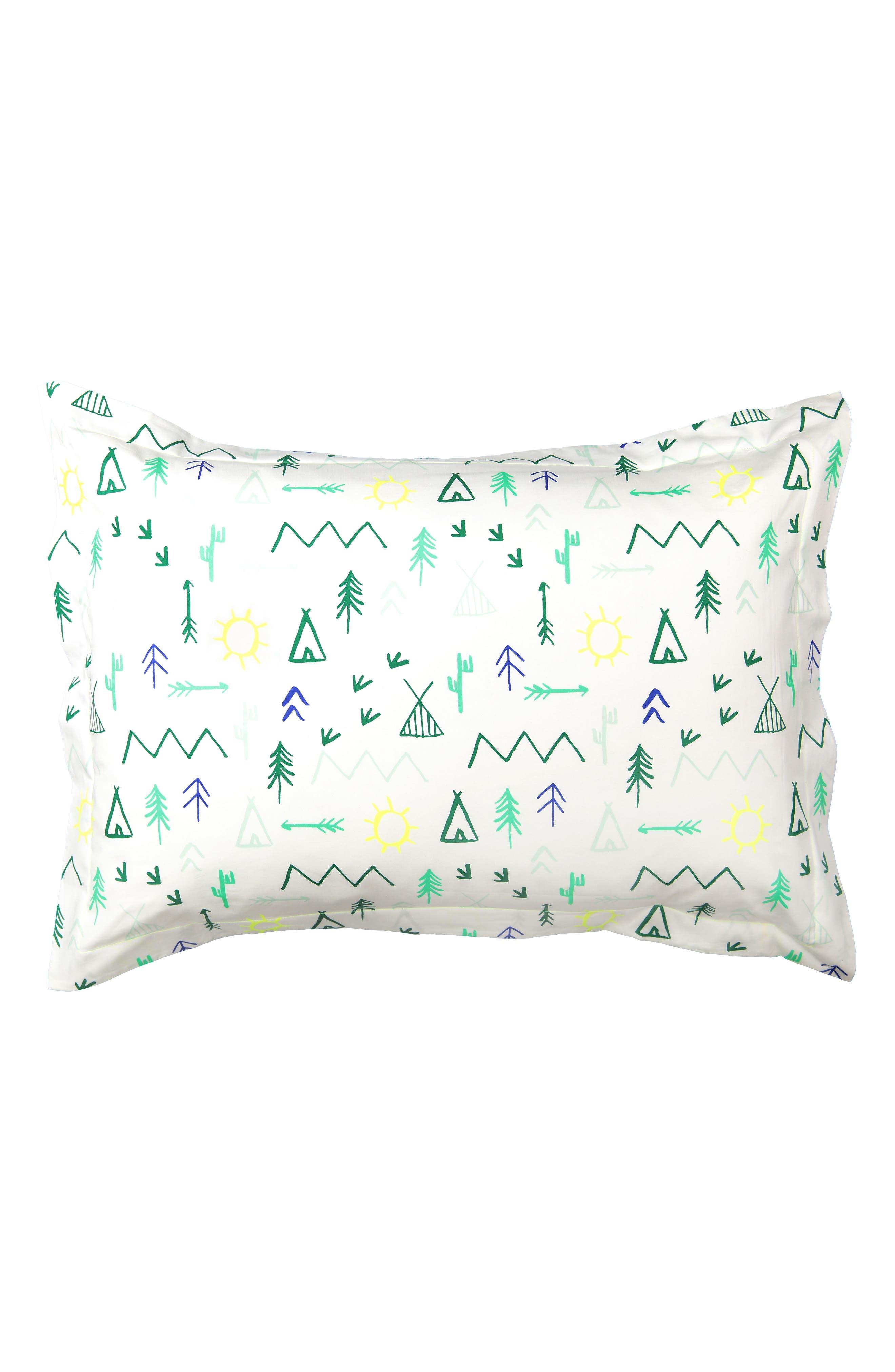 Main Image - Meri Meri Campground Set of 2 Organic Cotton Pillow Shams