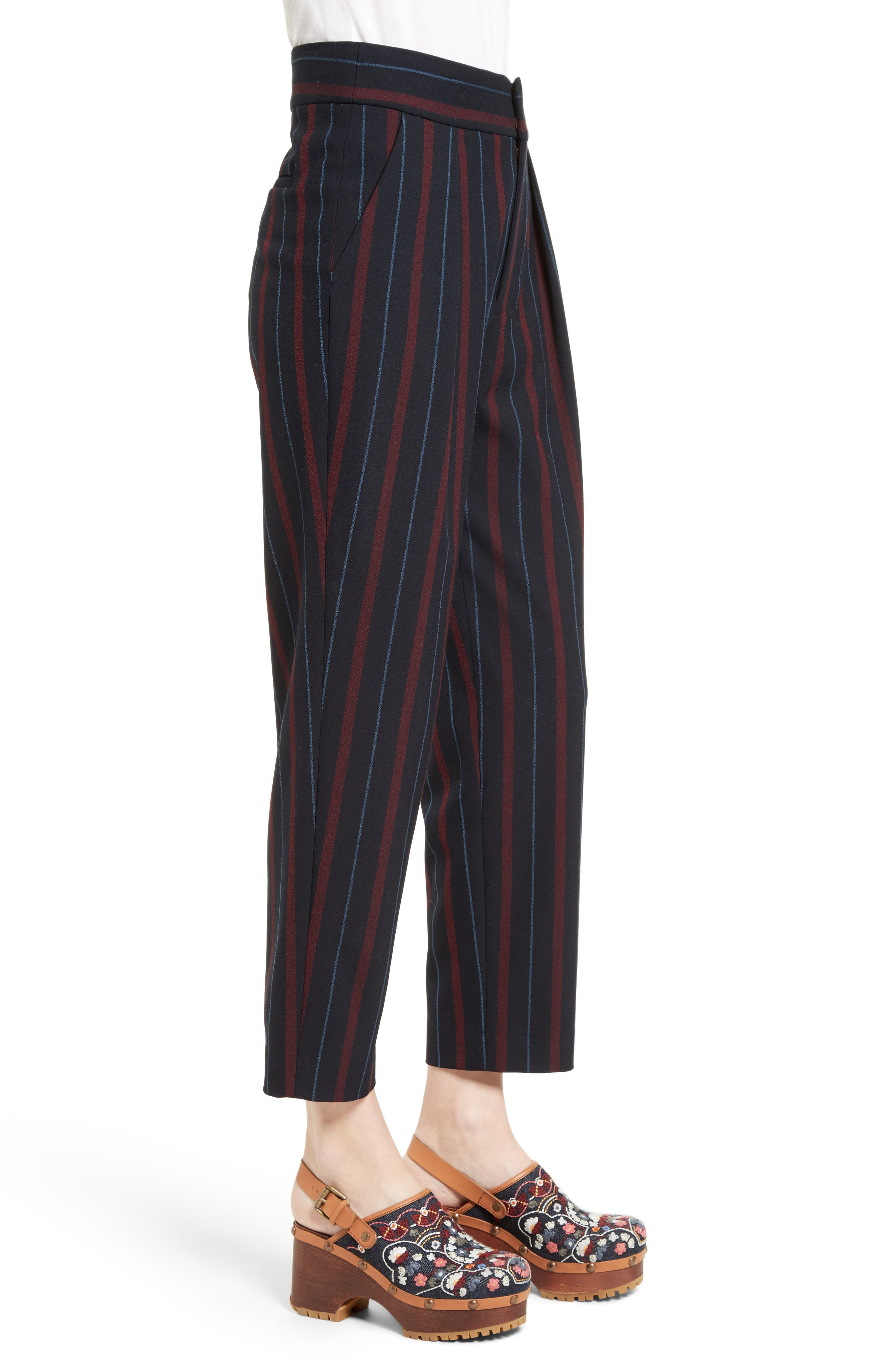 Alternate Image 3  - See by Chloé Stripe Straight Leg Trousers