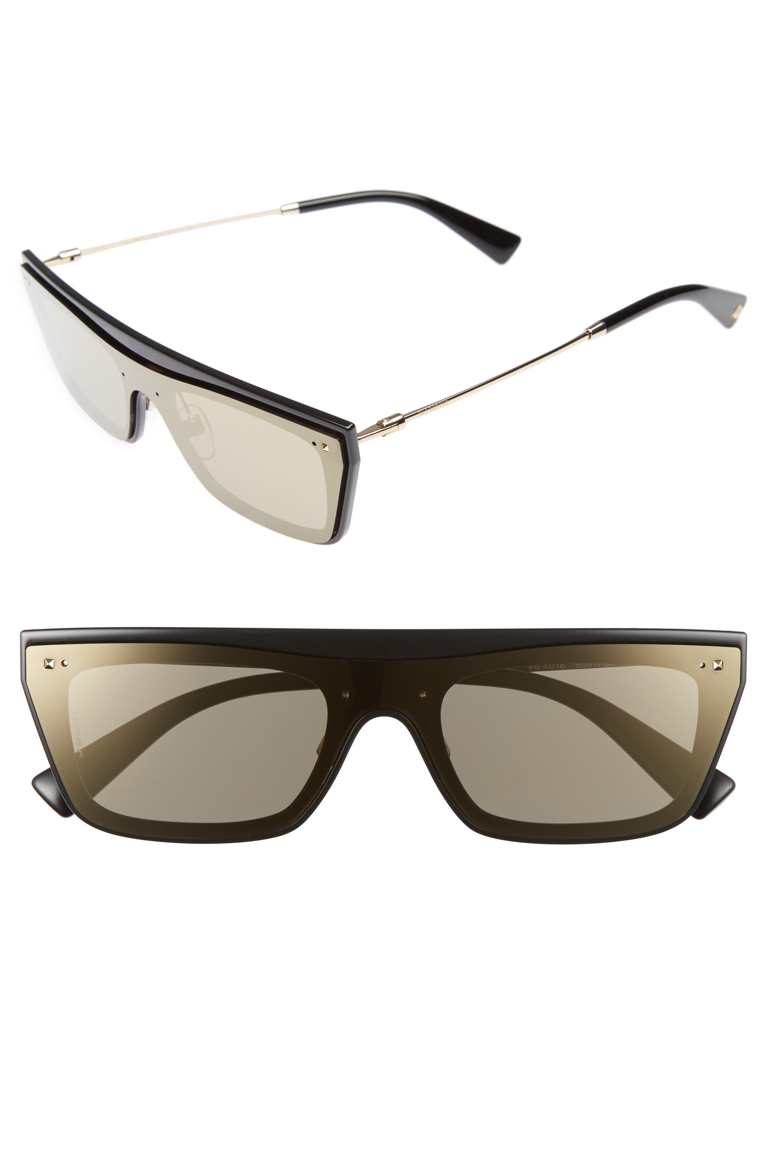 Alternate Image 1 Selected - Valentino Rockstud 50mm Rectangular Sunglasses