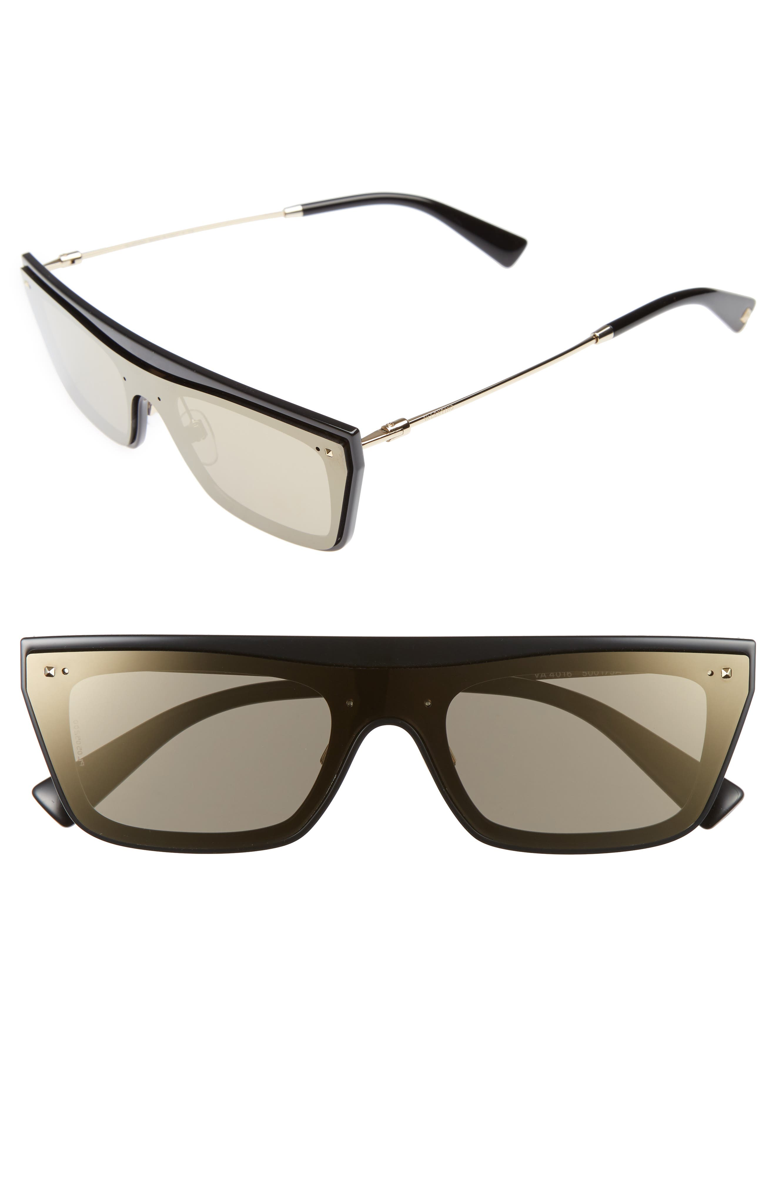 Main Image - Valentino Rockstud 50mm Rectangular Sunglasses