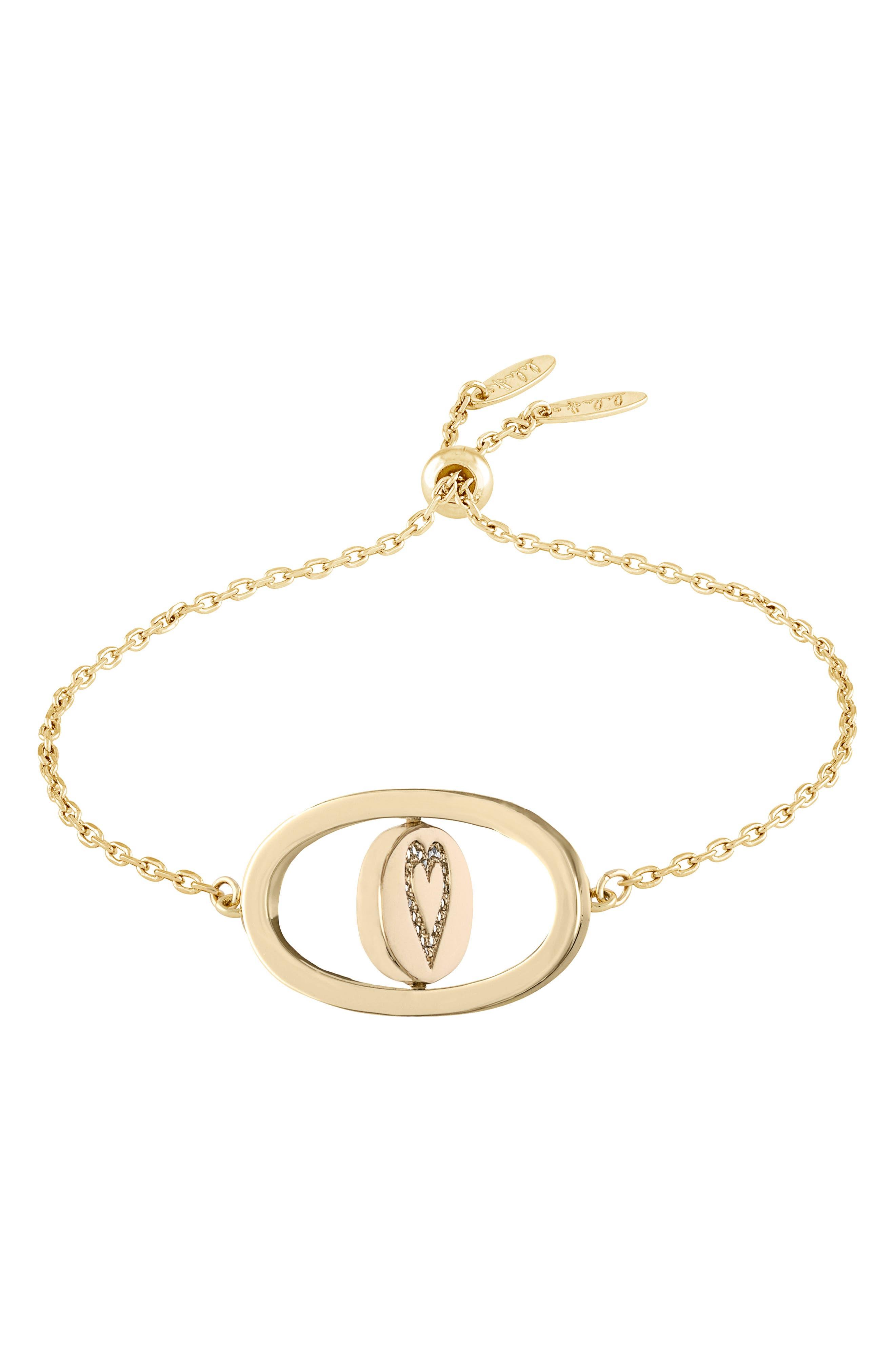 Love Letters Spinning Pendant Bracelet,                             Alternate thumbnail 2, color,                             Je Taime/ Gold