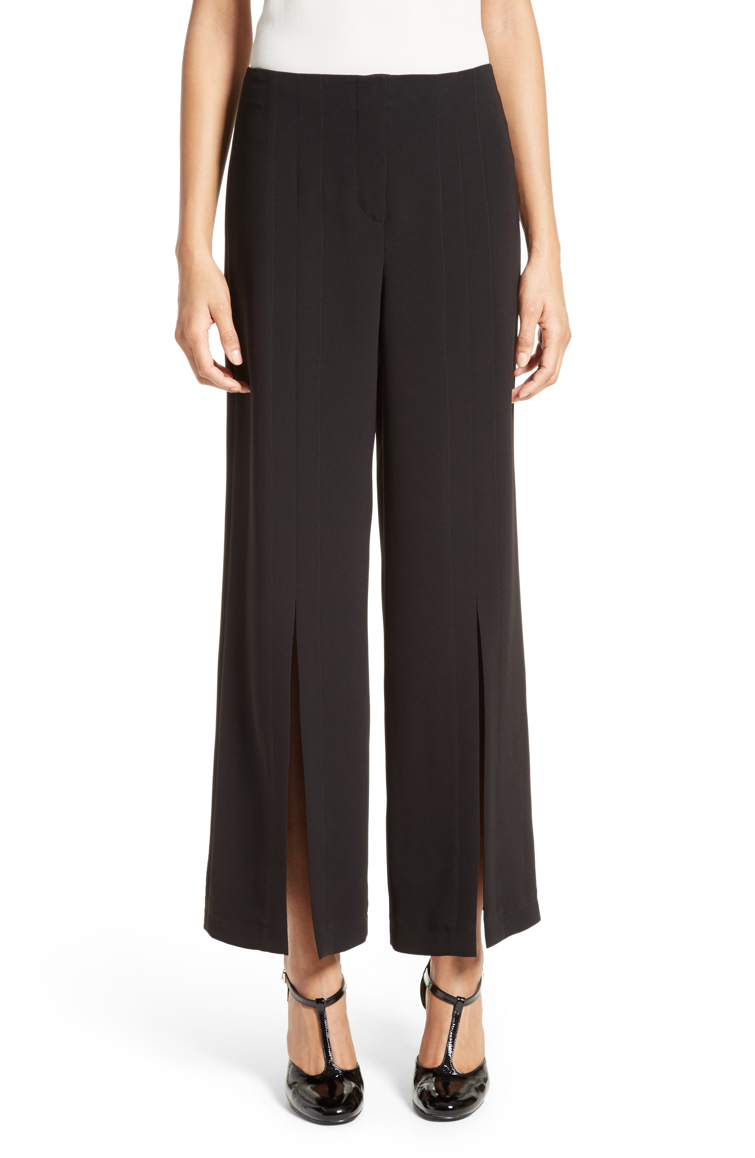Alternate Image 1 Selected - Yigal Azrouël Slit Wide Leg Pants