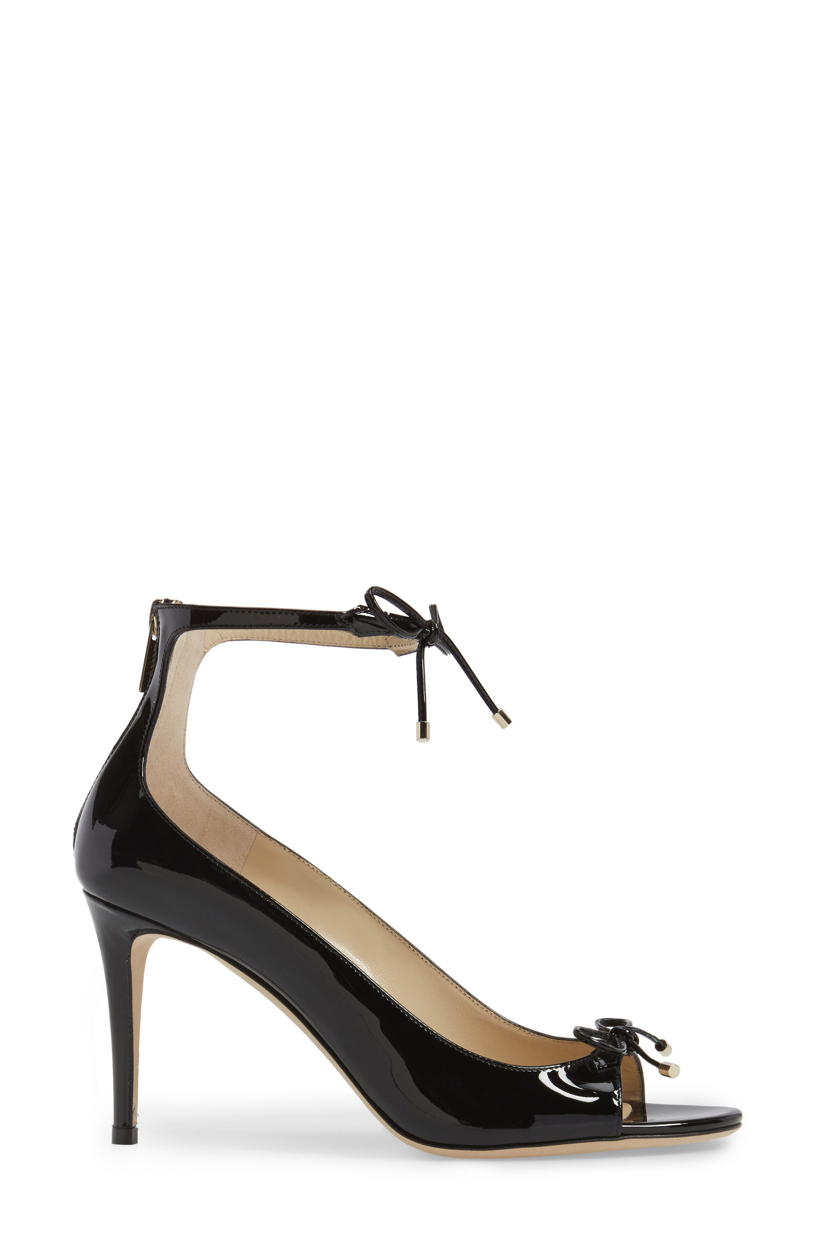 Sofia Peep Toe Pump,                             Alternate thumbnail 3, color,                             Black