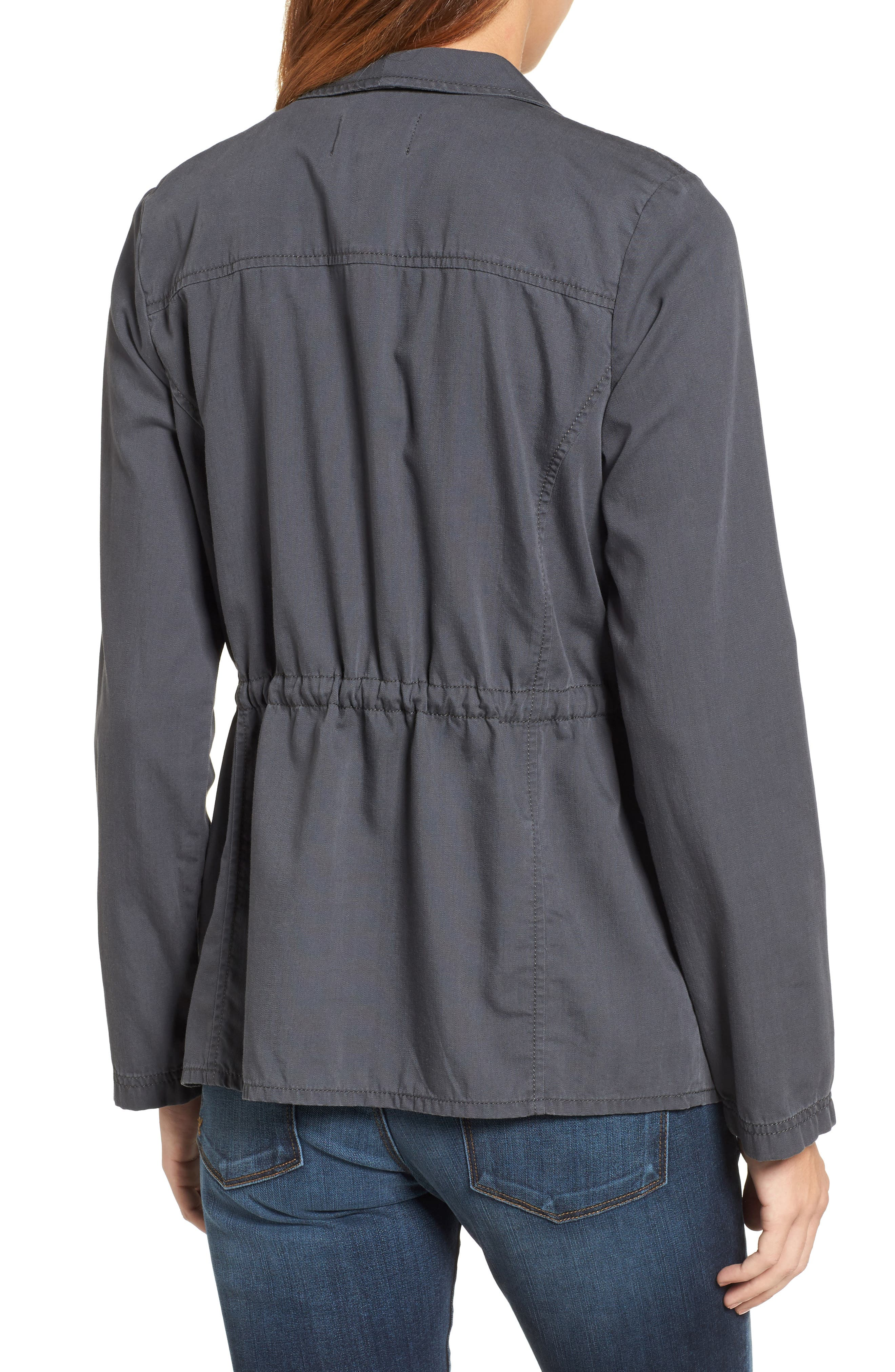 Alternate Image 2  - Caslon® Draped Utility Jacket (Regular & Petite)