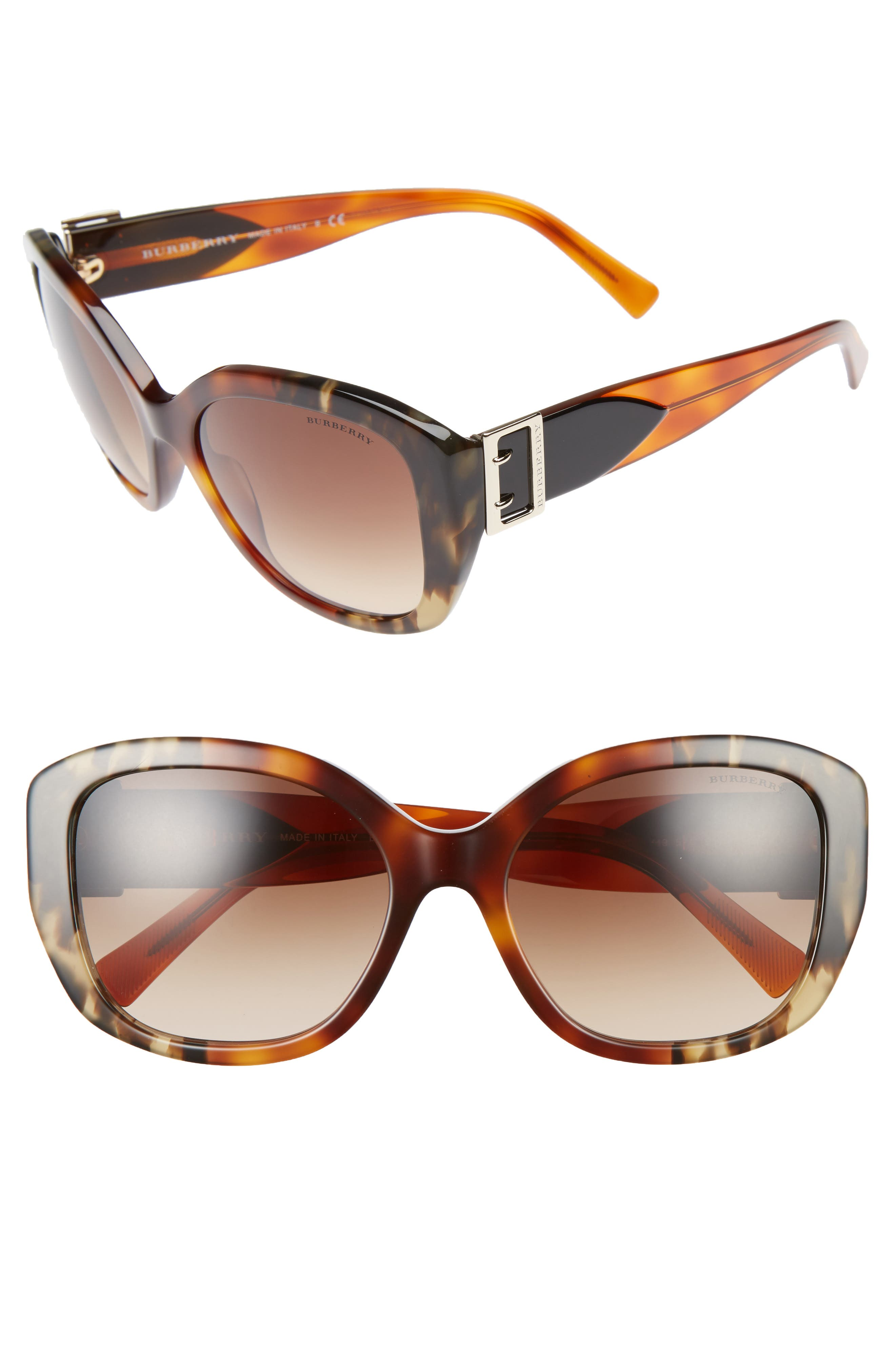 BURBERRY 57mm Gradient Butterfly Sunglasses