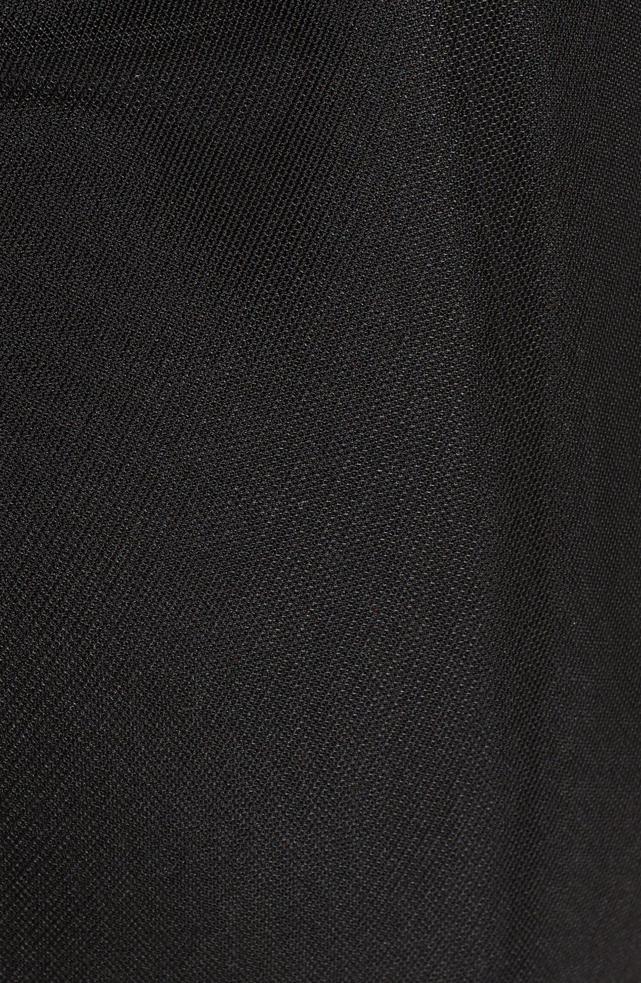 Grant Mesh Dress,                             Alternate thumbnail 5, color,                             Black