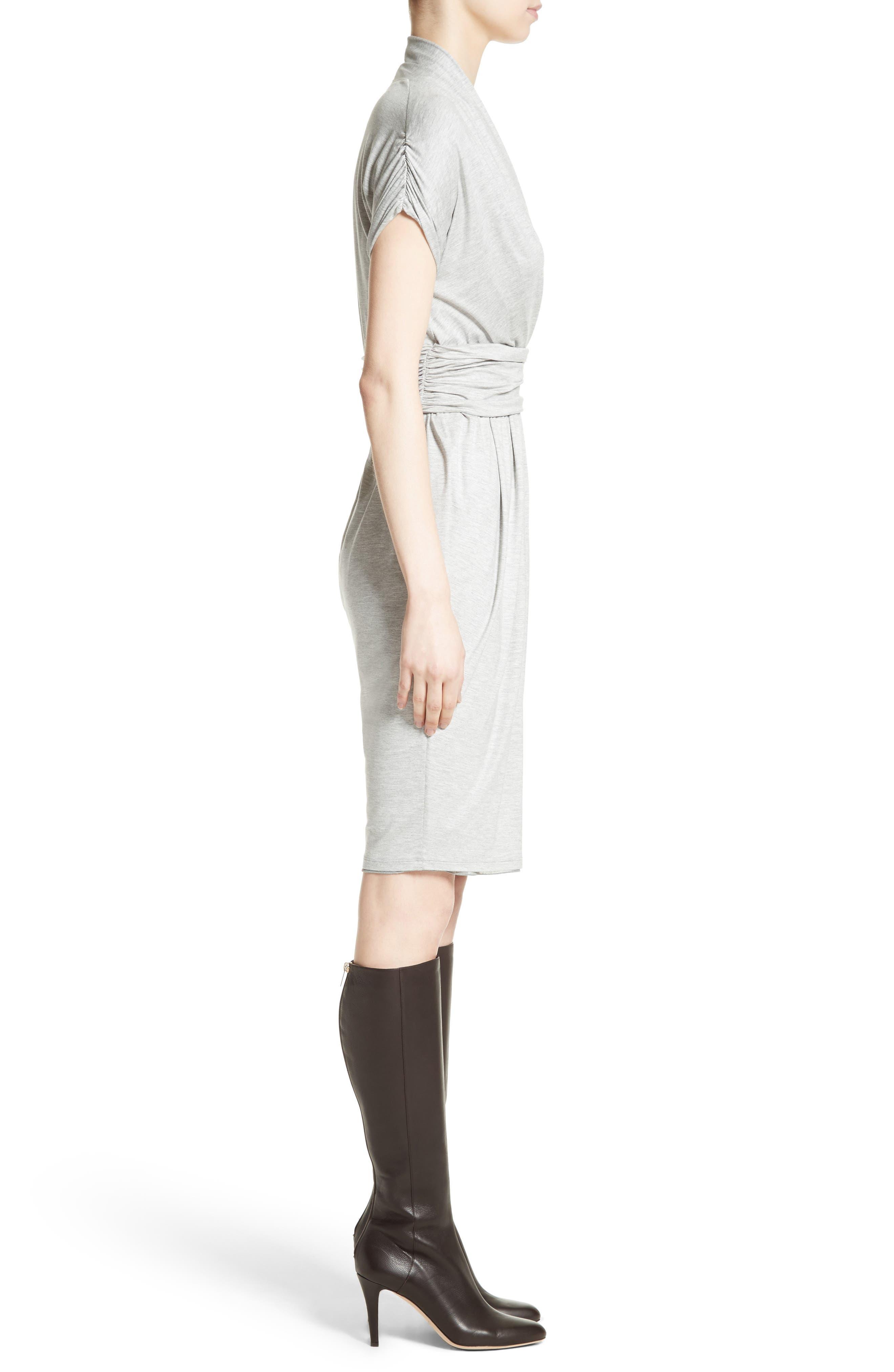 Pergola Jersey Dress,                             Alternate thumbnail 5, color,                             Light Grey