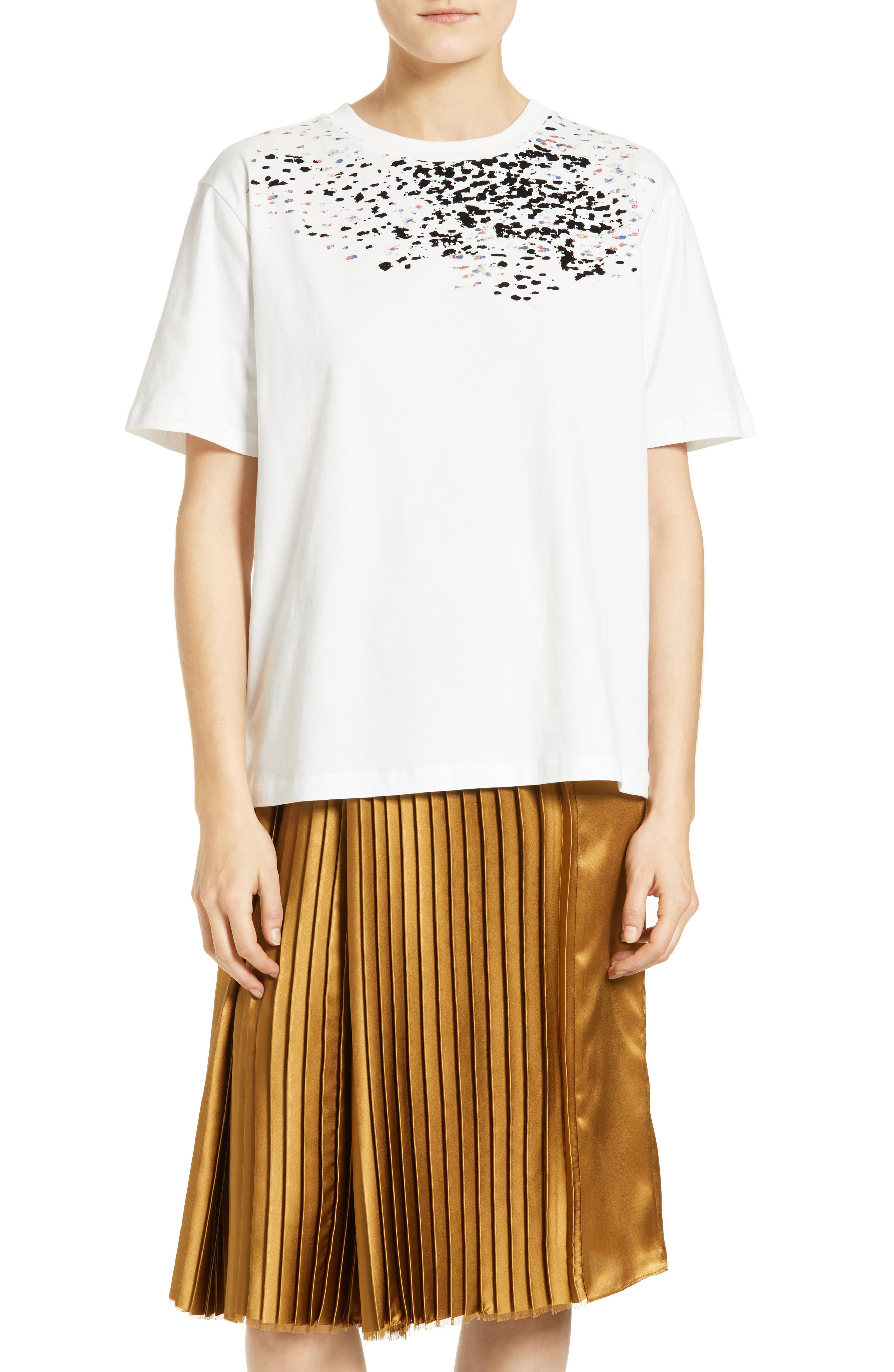 Adara Graphic Tee,                         Main,                         color, Off White