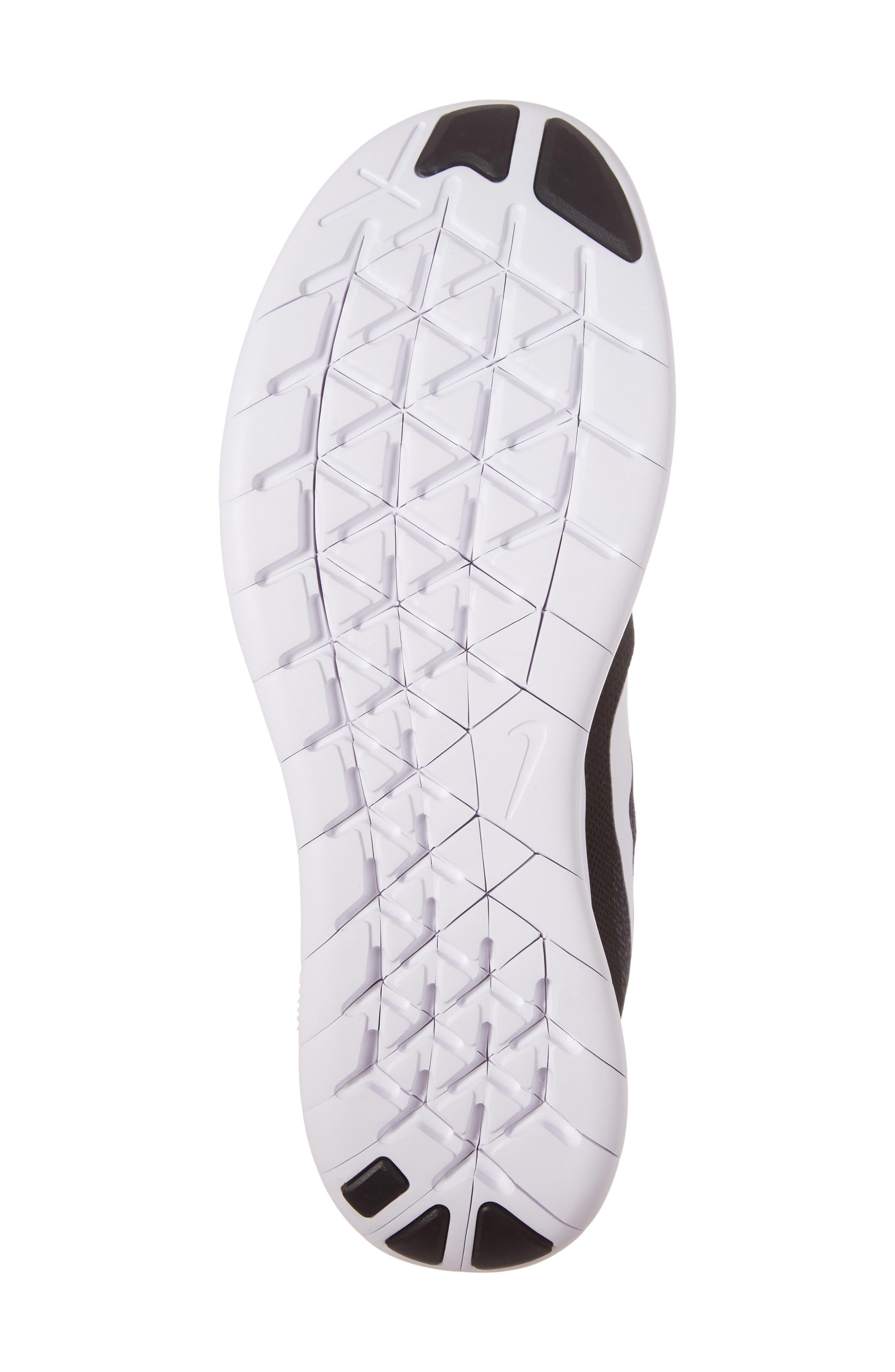 Free Run 2017 Running Shoe,                             Alternate thumbnail 6, color,                             Black/ White/ Grey/ Anthracite