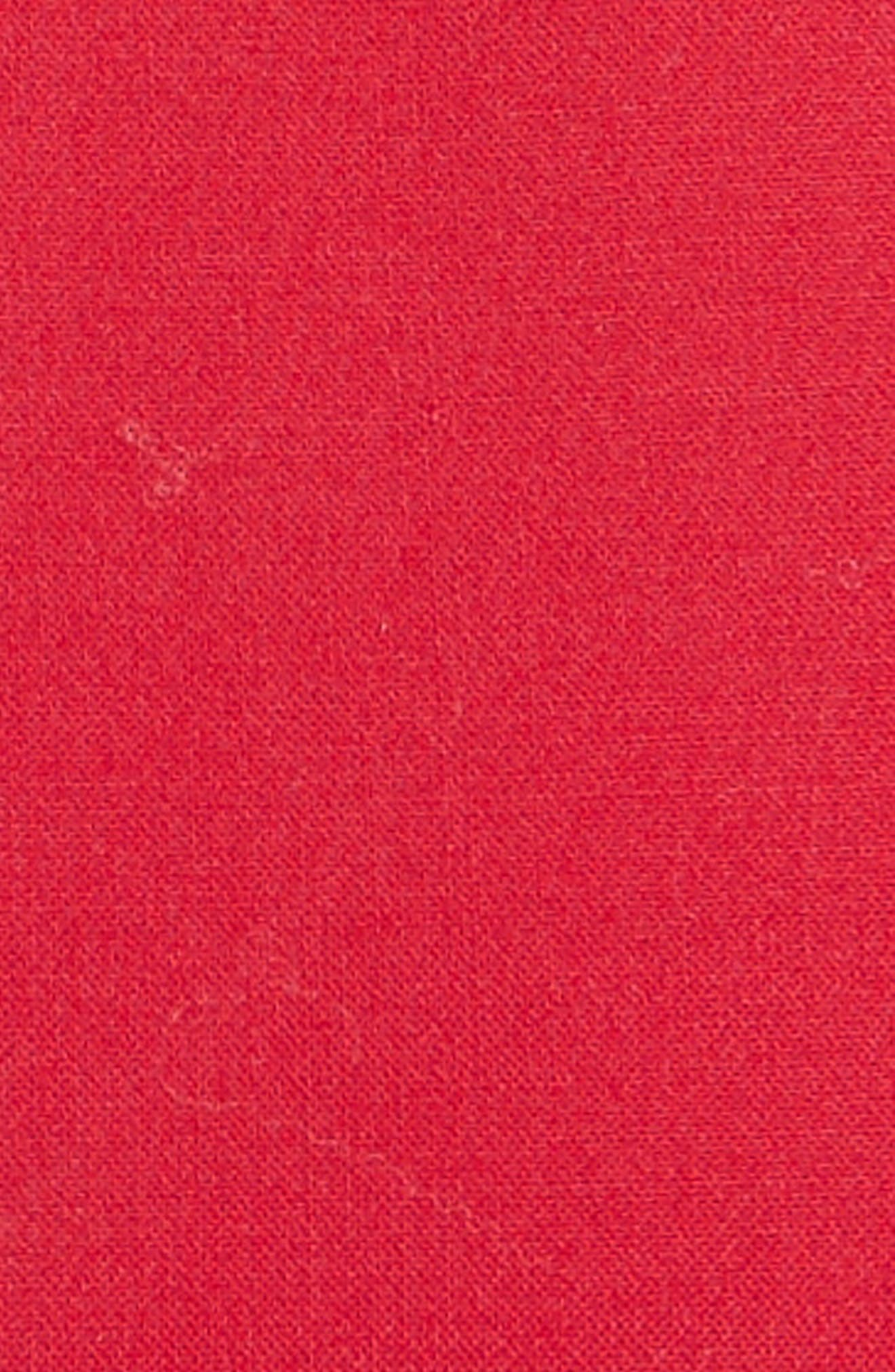 Stretch Crepe Sheath Dress,                             Alternate thumbnail 3, color,                             Garnet