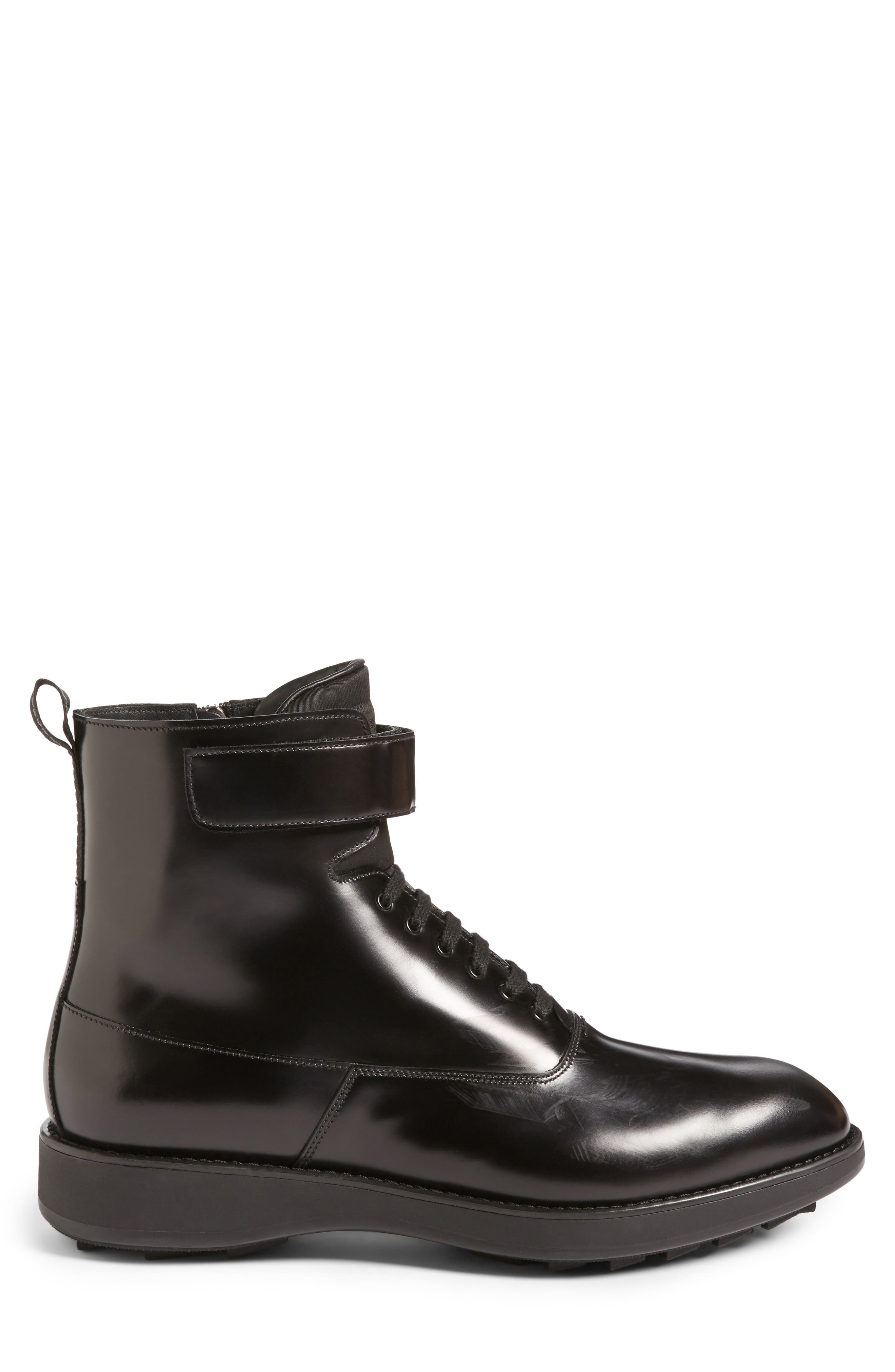 Plain Toe Boot,                             Alternate thumbnail 3, color,                             Nero