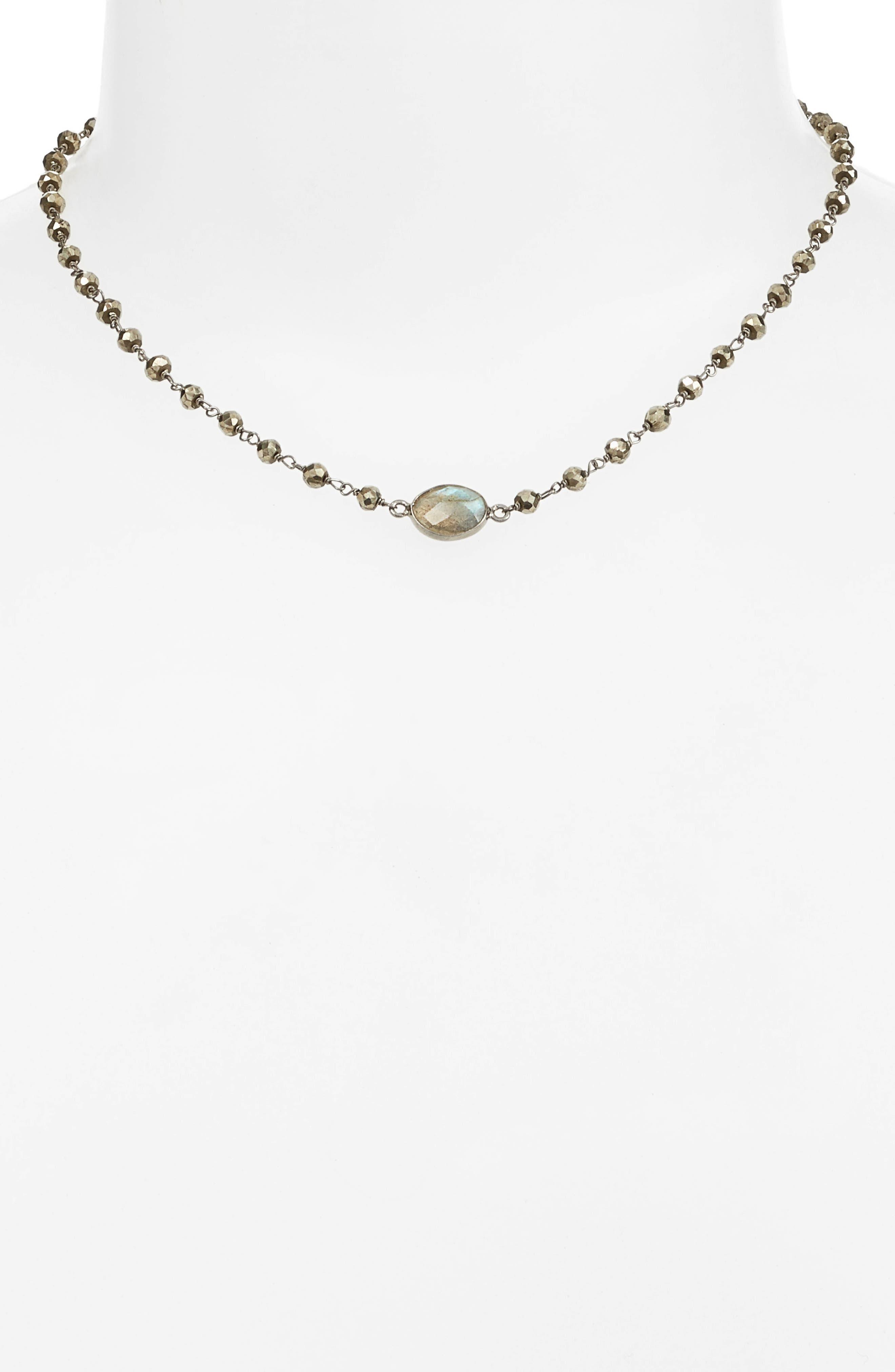 Alternate Image 1 Selected - ela rae Libi Semiprecious Stone Collar Necklace