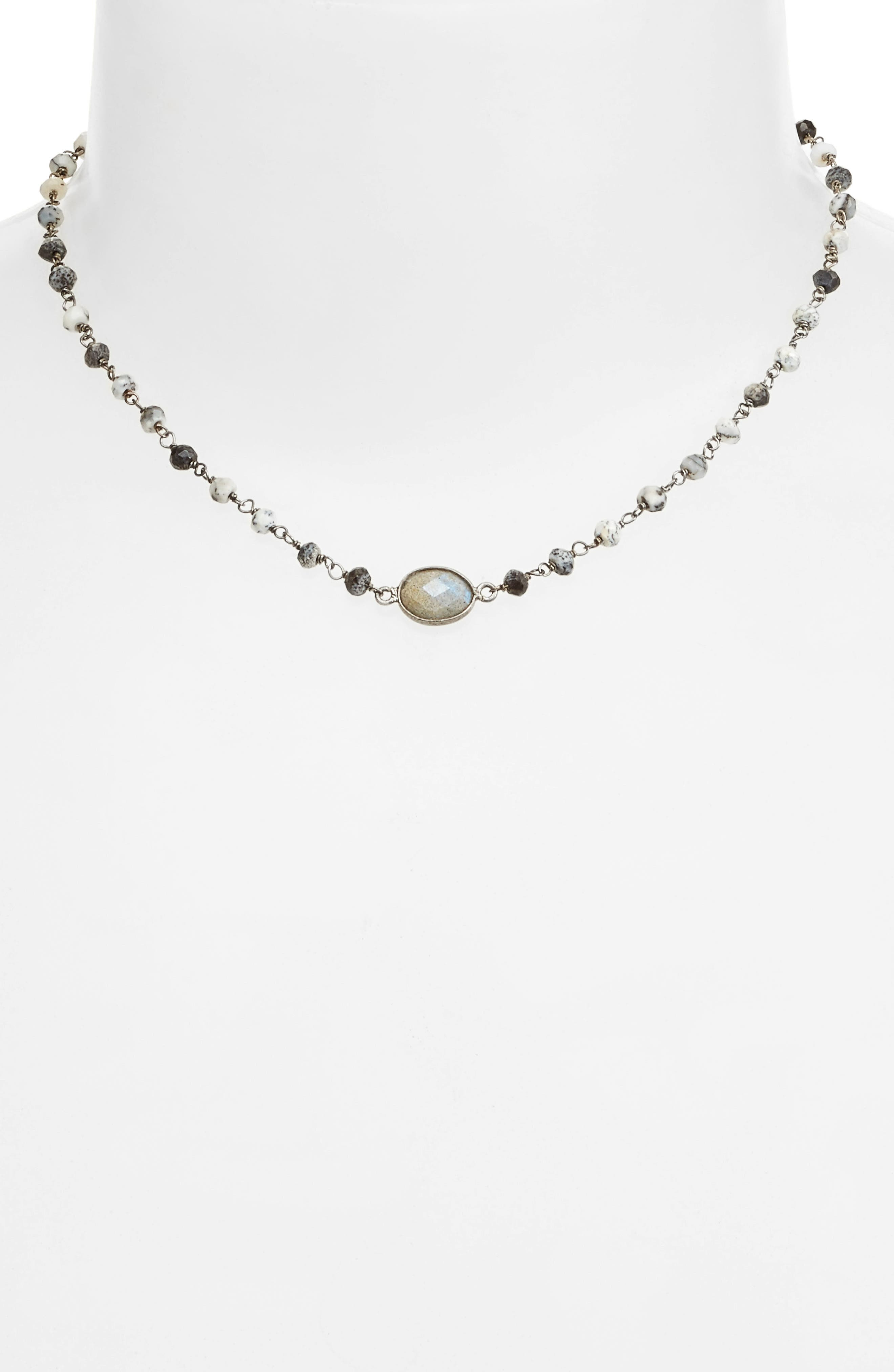 ela rae Libi Semiprecious Stone Collar Necklace