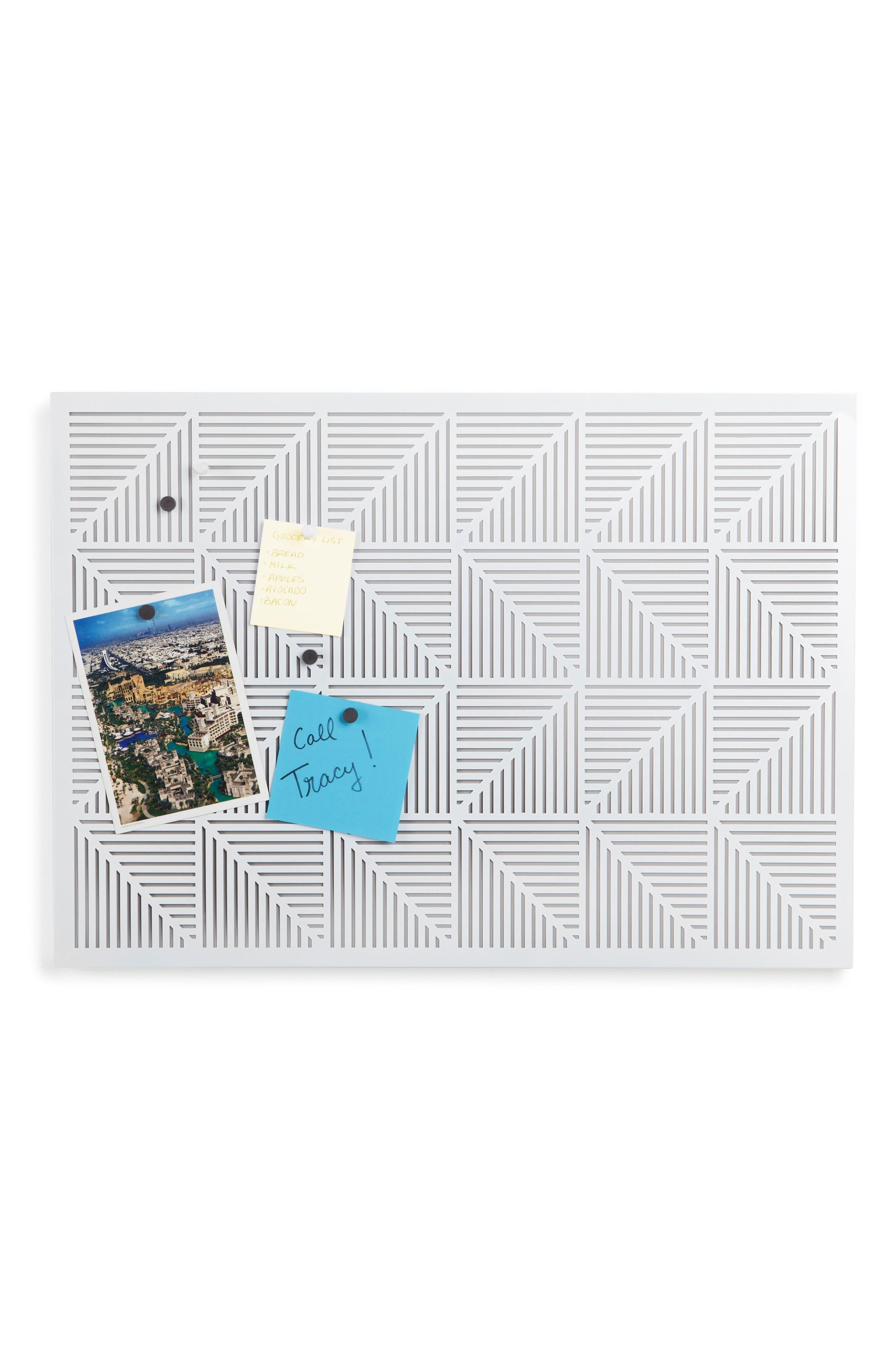 Trigon Bulletin Board,                         Main,                         color, White