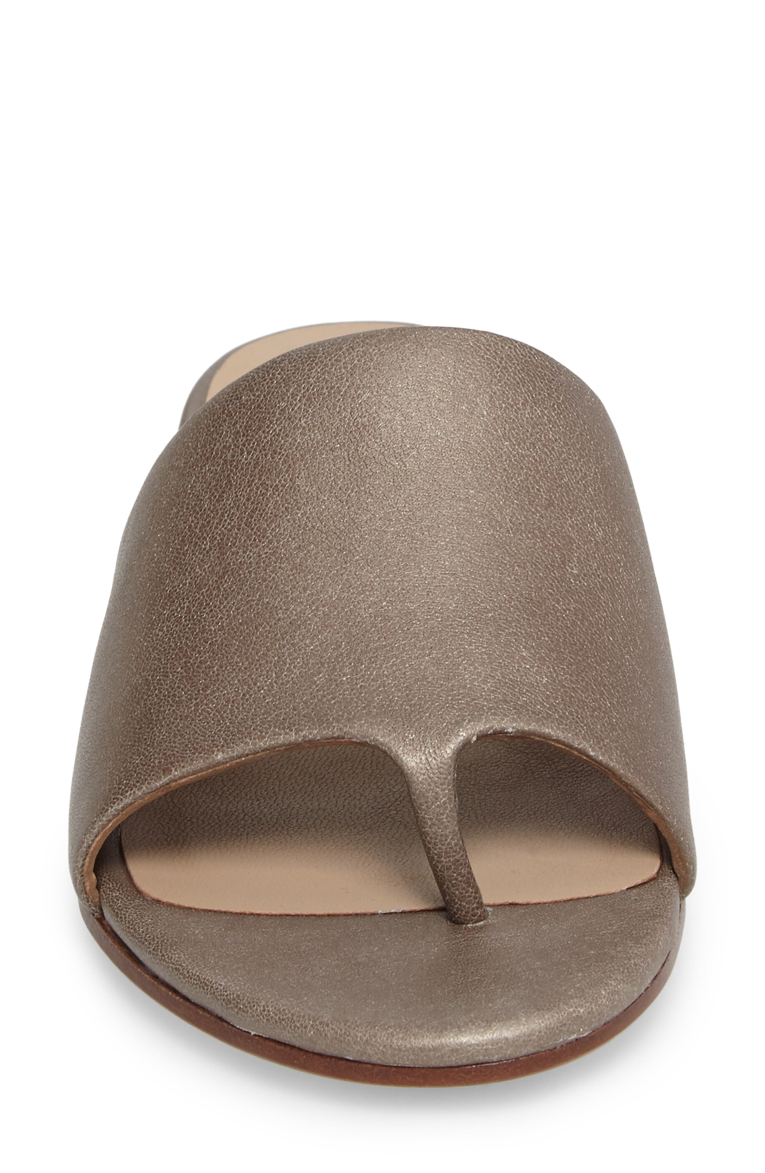 Beal Slide Sandal,                             Alternate thumbnail 4, color,                             Pyrite Leather