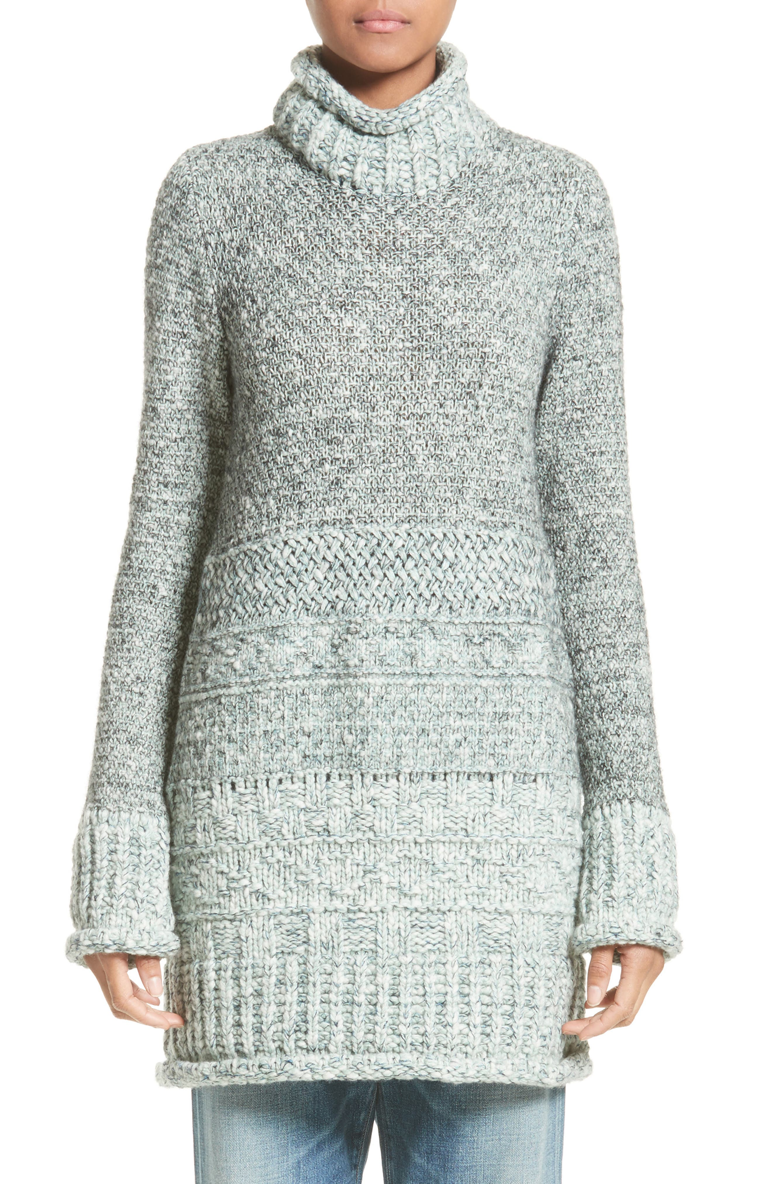 Tunic Sweater,                         Main,                         color, Mint