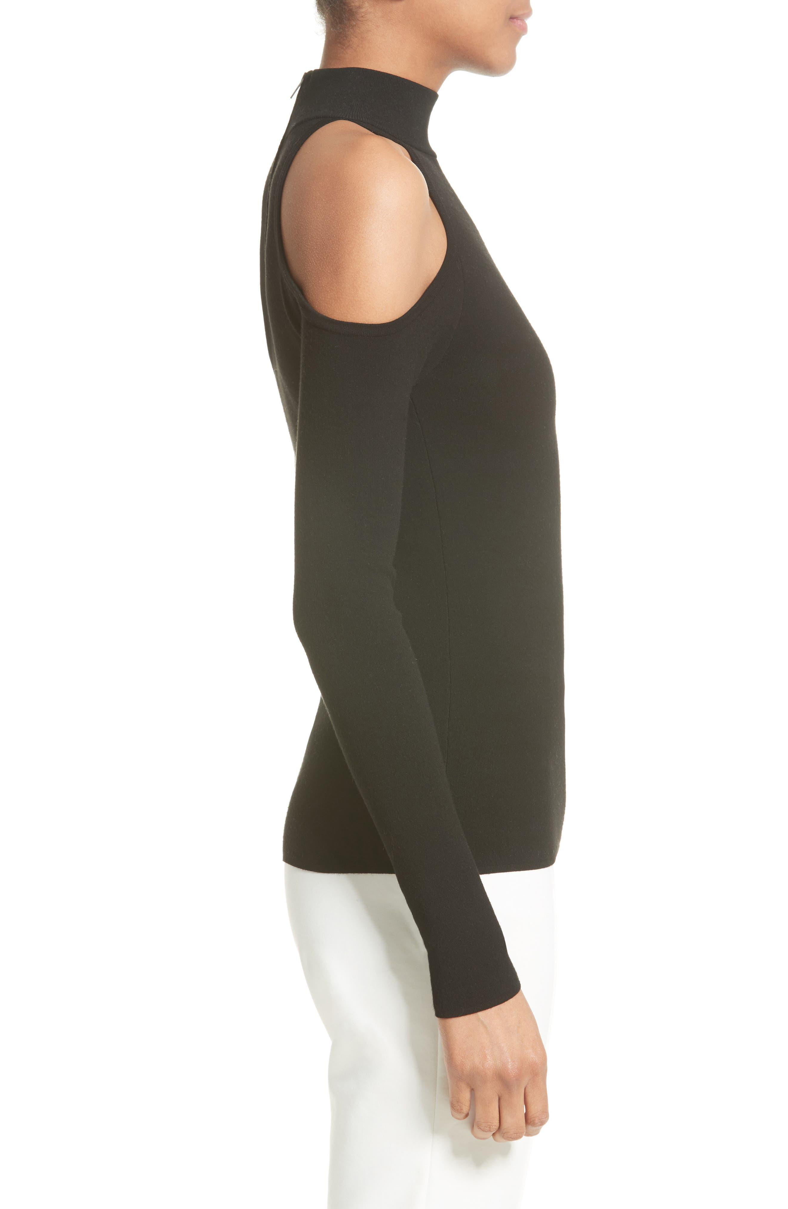 Alternate Image 5  - Michael Kors Cold Shoulder Stretch Knit Top