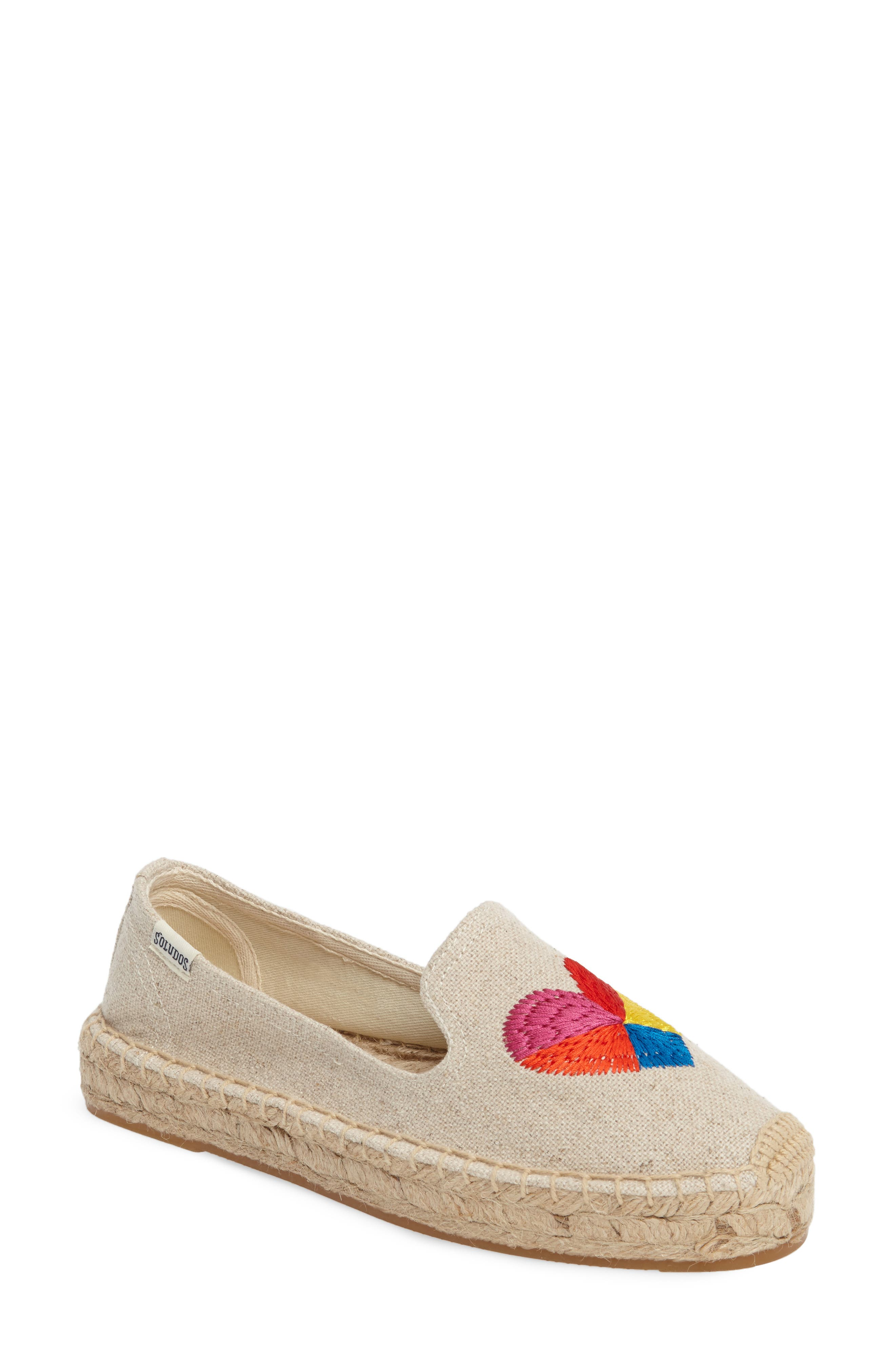 Soludos Heart Embroidered Espadrille (Women)
