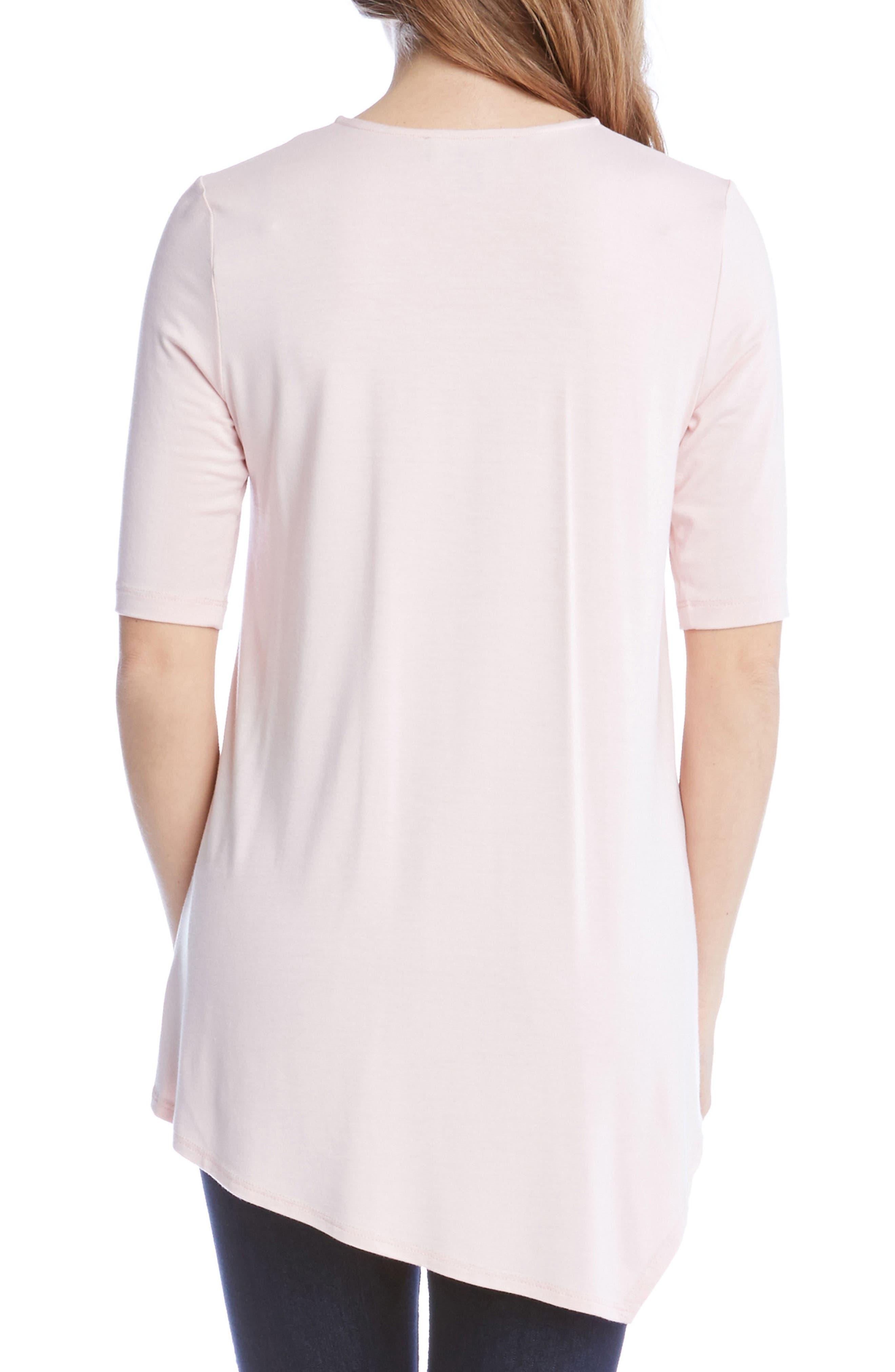 Alternate Image 2  - Karen Kane Pencil Sleeve Drape Jersey Top