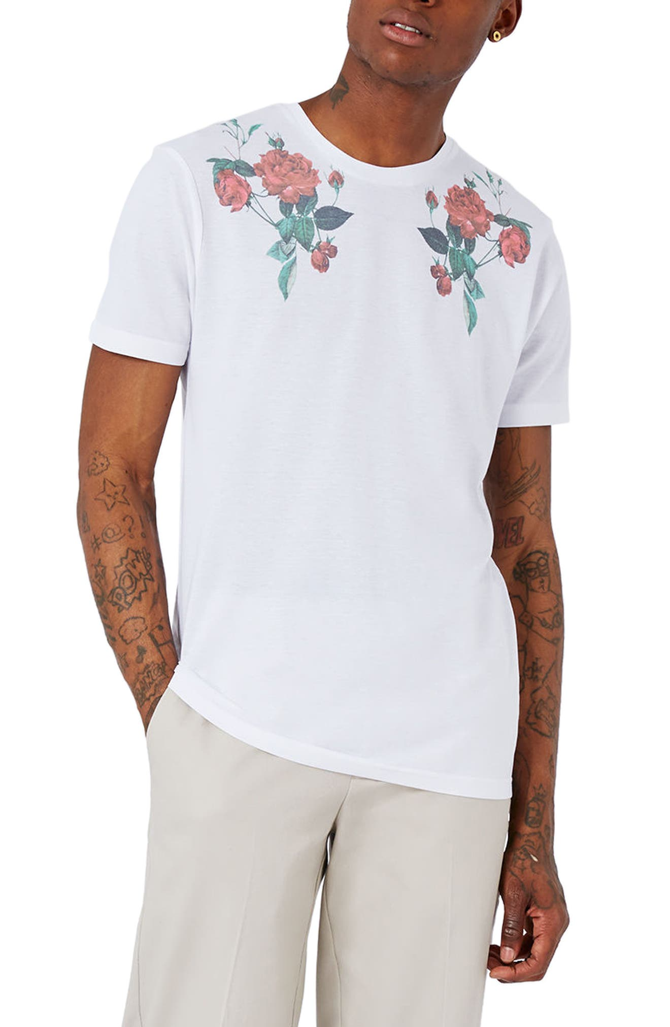 TOPMAN Rose Graphic T-Shirt