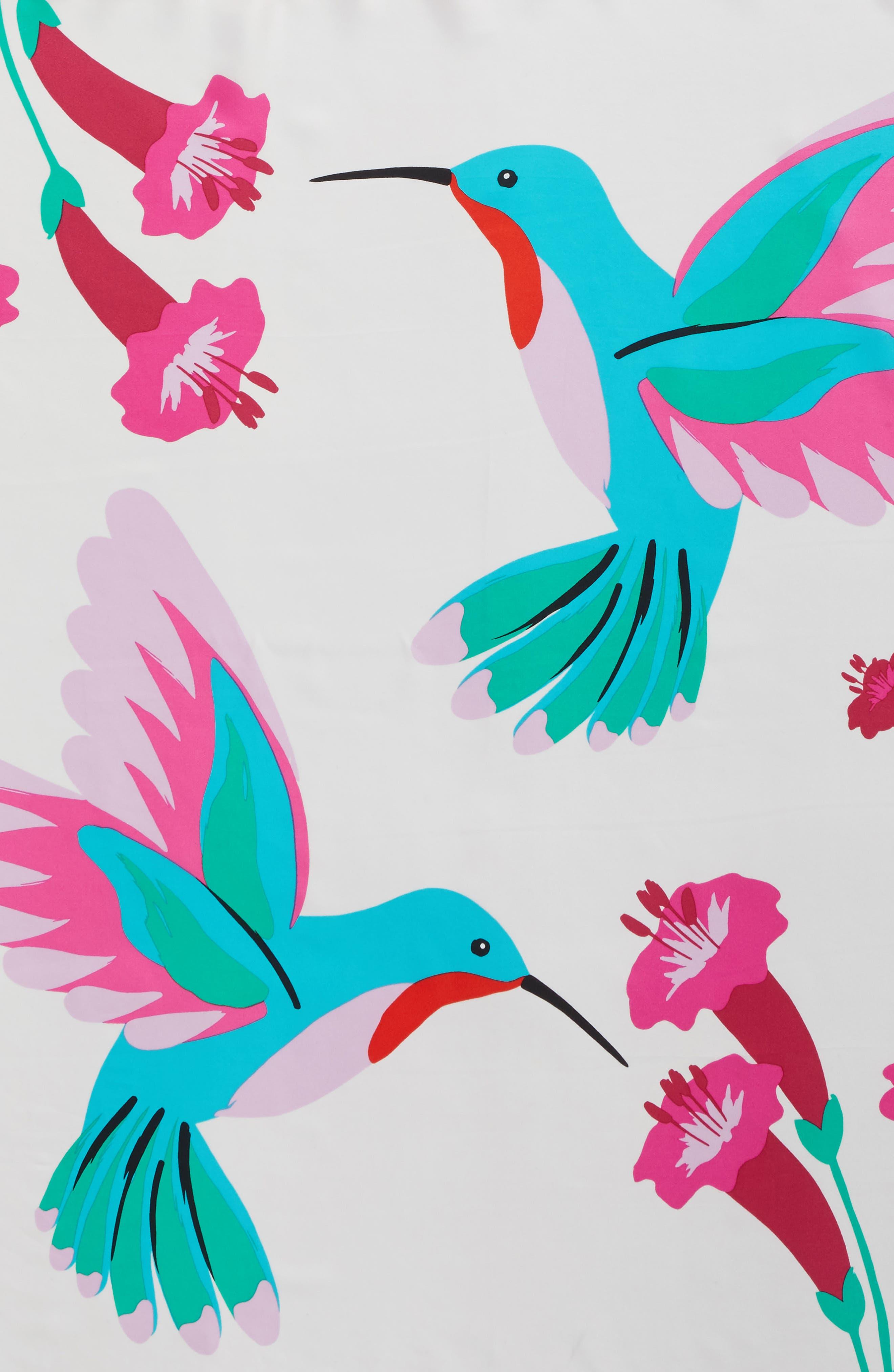 Alternate Image 3  - kate spade new york hummingbird silk square scarf