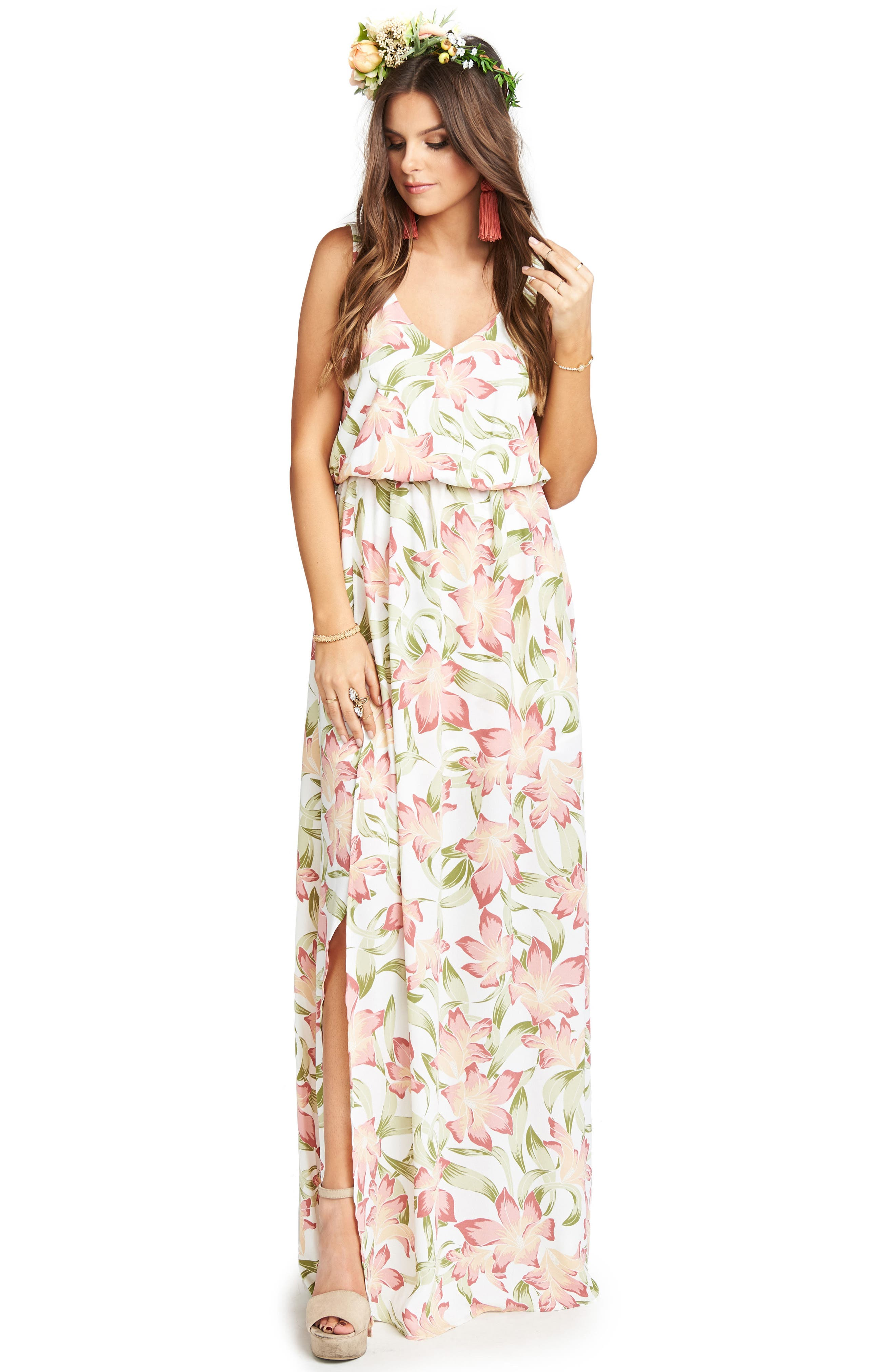 Kendall Maxi Dress,                             Alternate thumbnail 4, color,                             Lily Lady Crepe