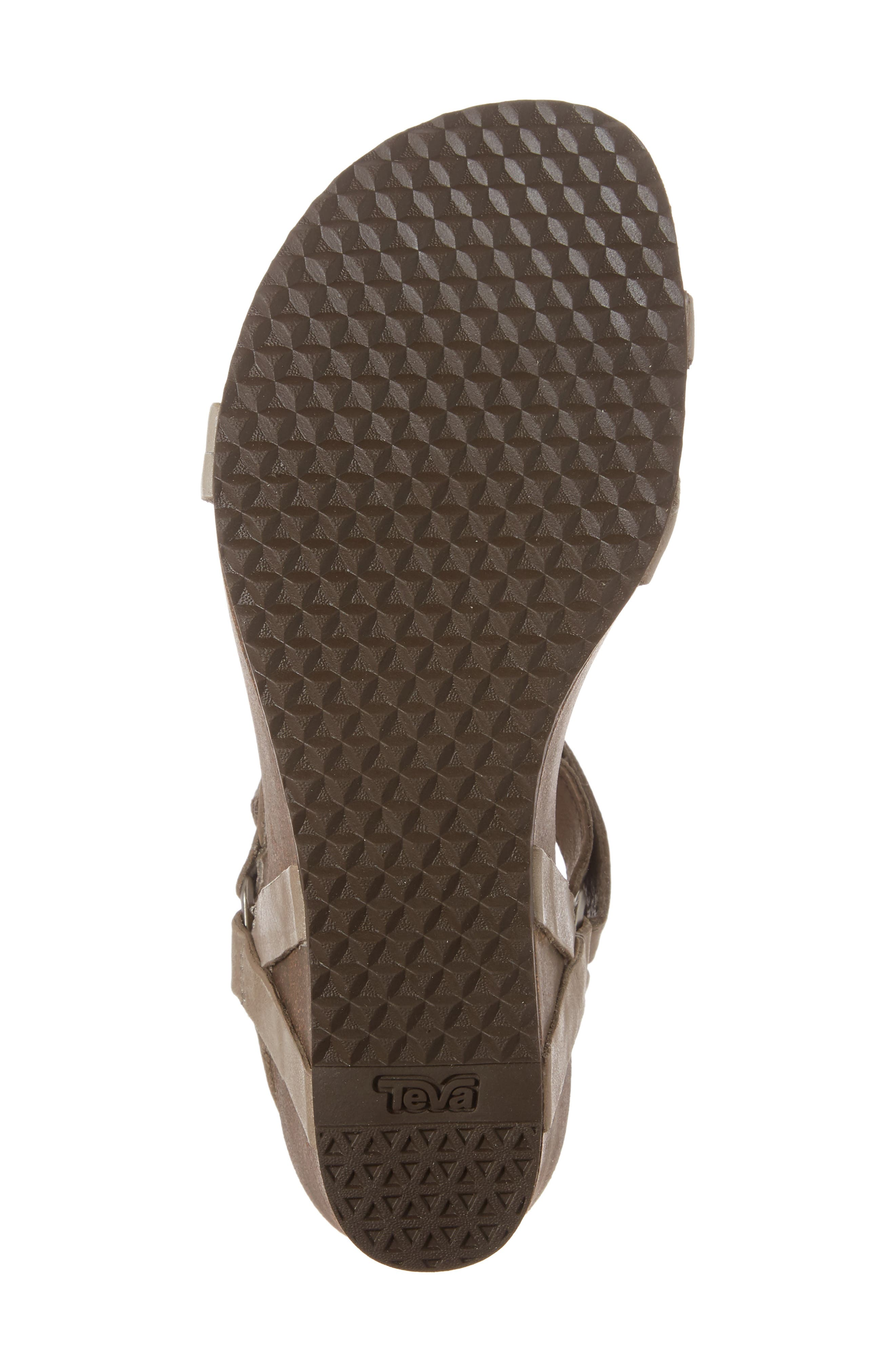 Ysidro Wedge Sandal,                             Alternate thumbnail 6, color,                             Taupe Leather