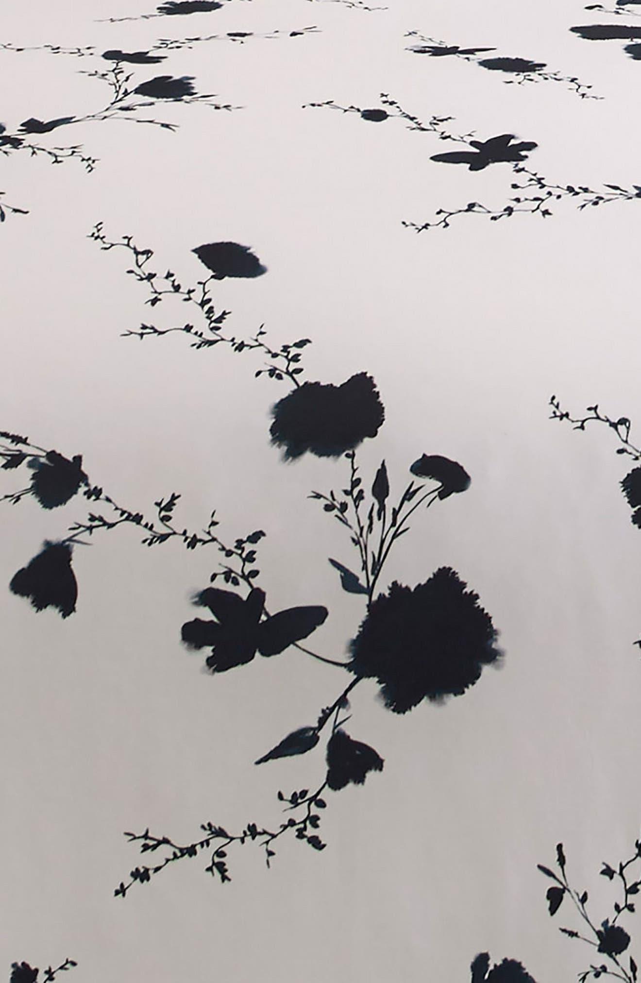 Ink Wash Floral Duvet Cover,                             Alternate thumbnail 4, color,                             Ink Wash
