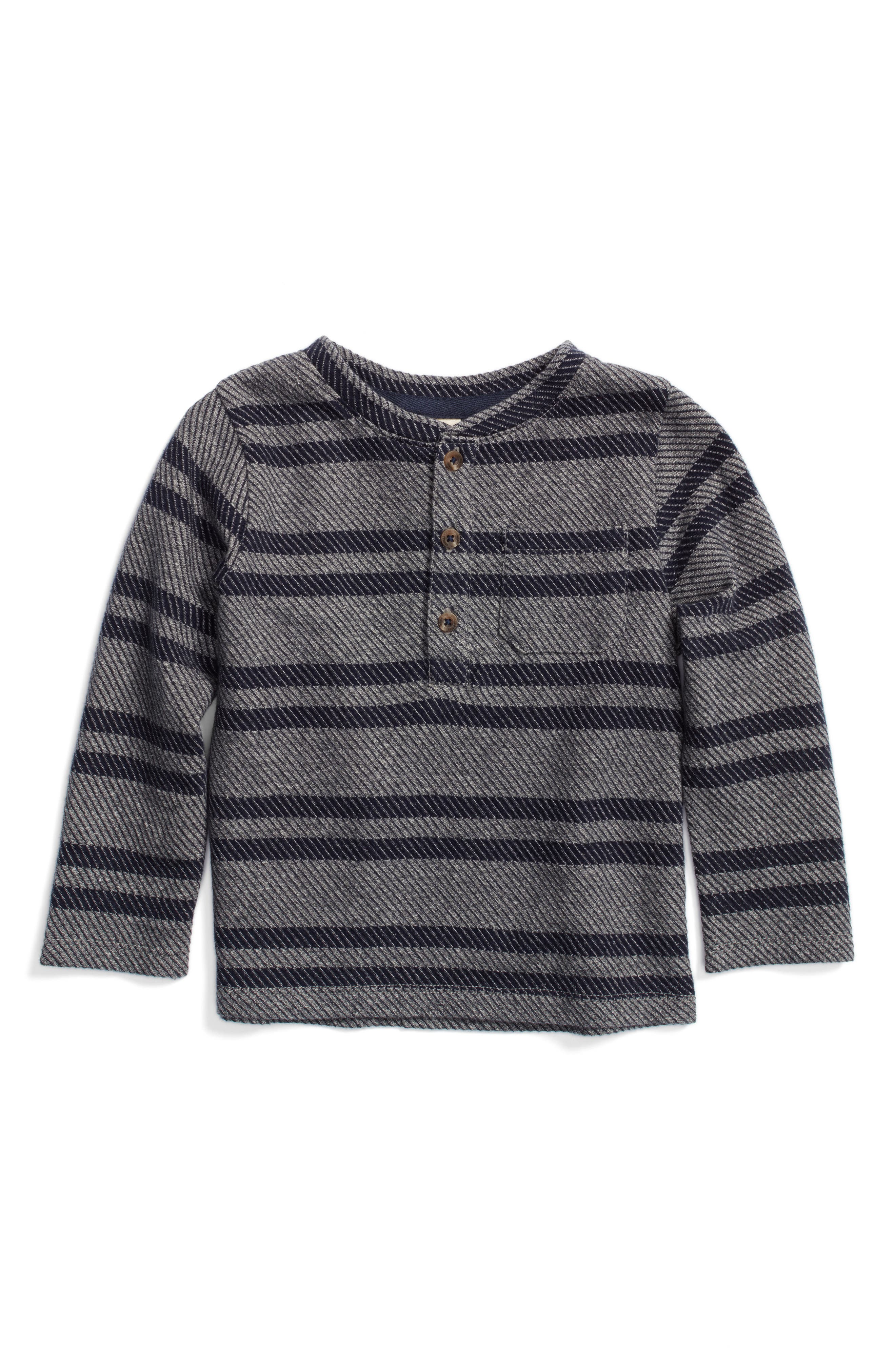 Alternate Image 1 Selected - Tucker + Tate Twill Stripe Henley T-Shirt (Baby Boys)