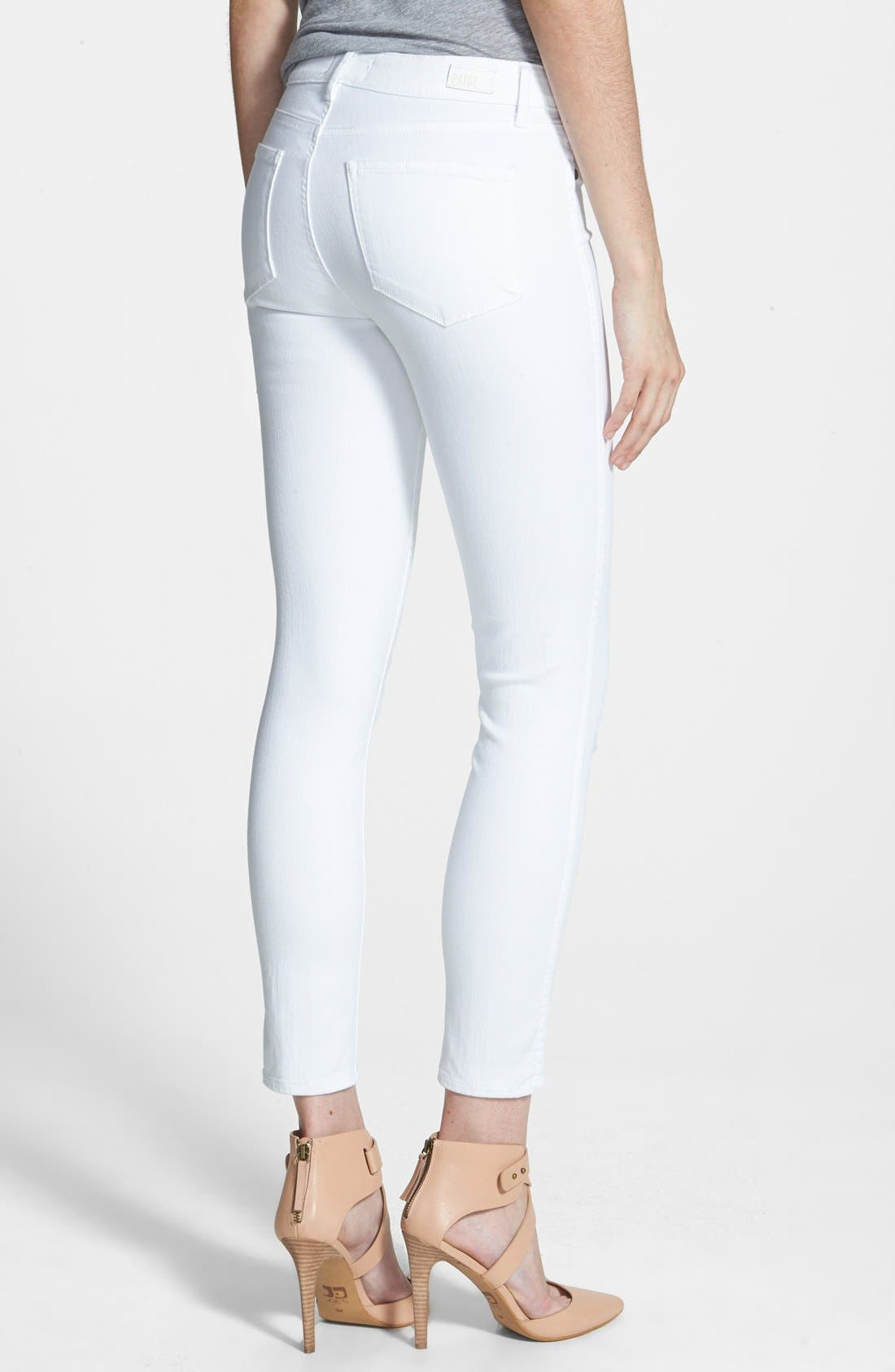 Alternate Image 2  - Paige Denim Hoxton High Waist Skinny Jeans (Ultra White)