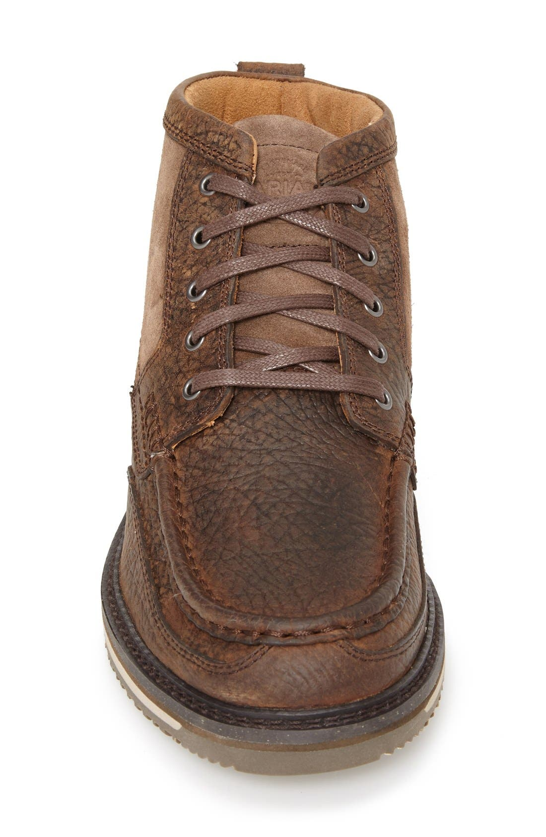 'Lookout' Moc Toe Boot,                             Alternate thumbnail 3, color,                             Brown