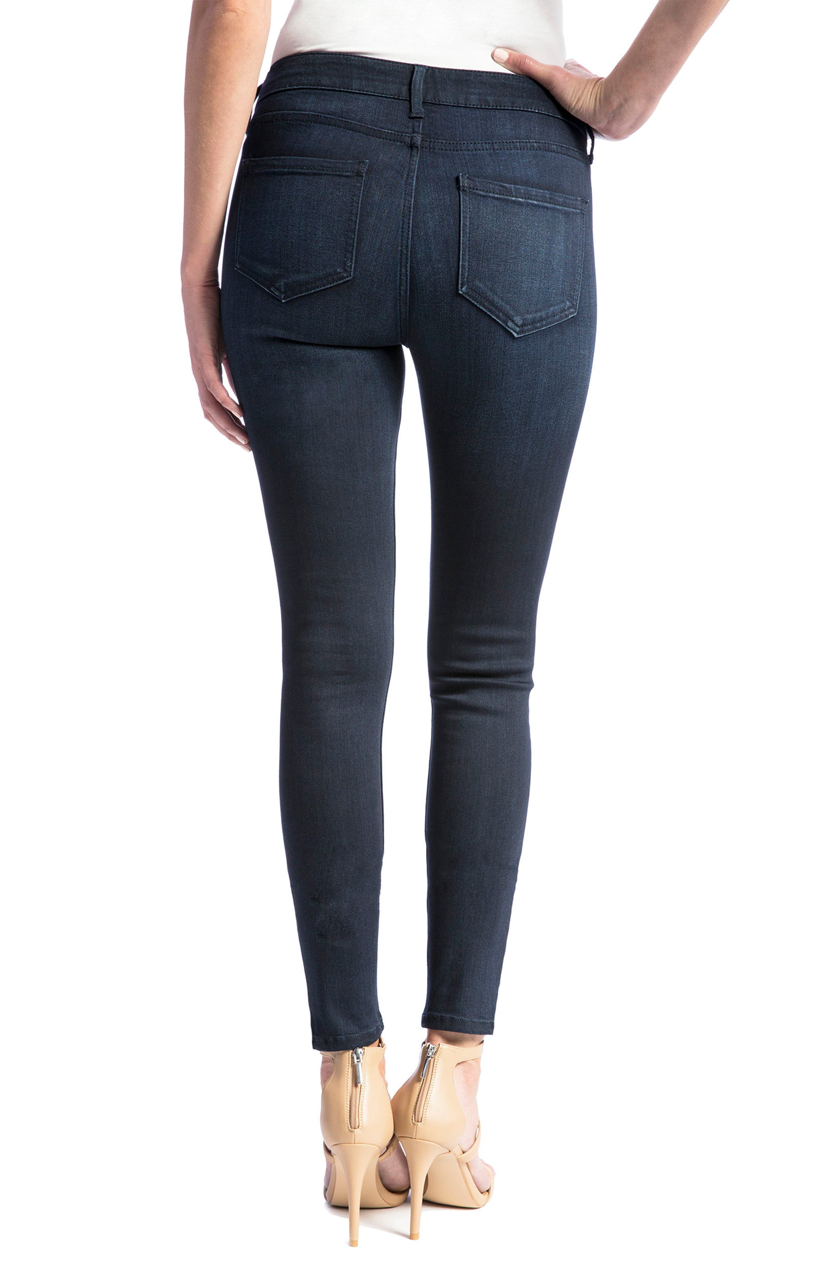 Jeans Co. Abby Stretch Skinny Jeans,                             Alternate thumbnail 3, color,                             Stone Wash