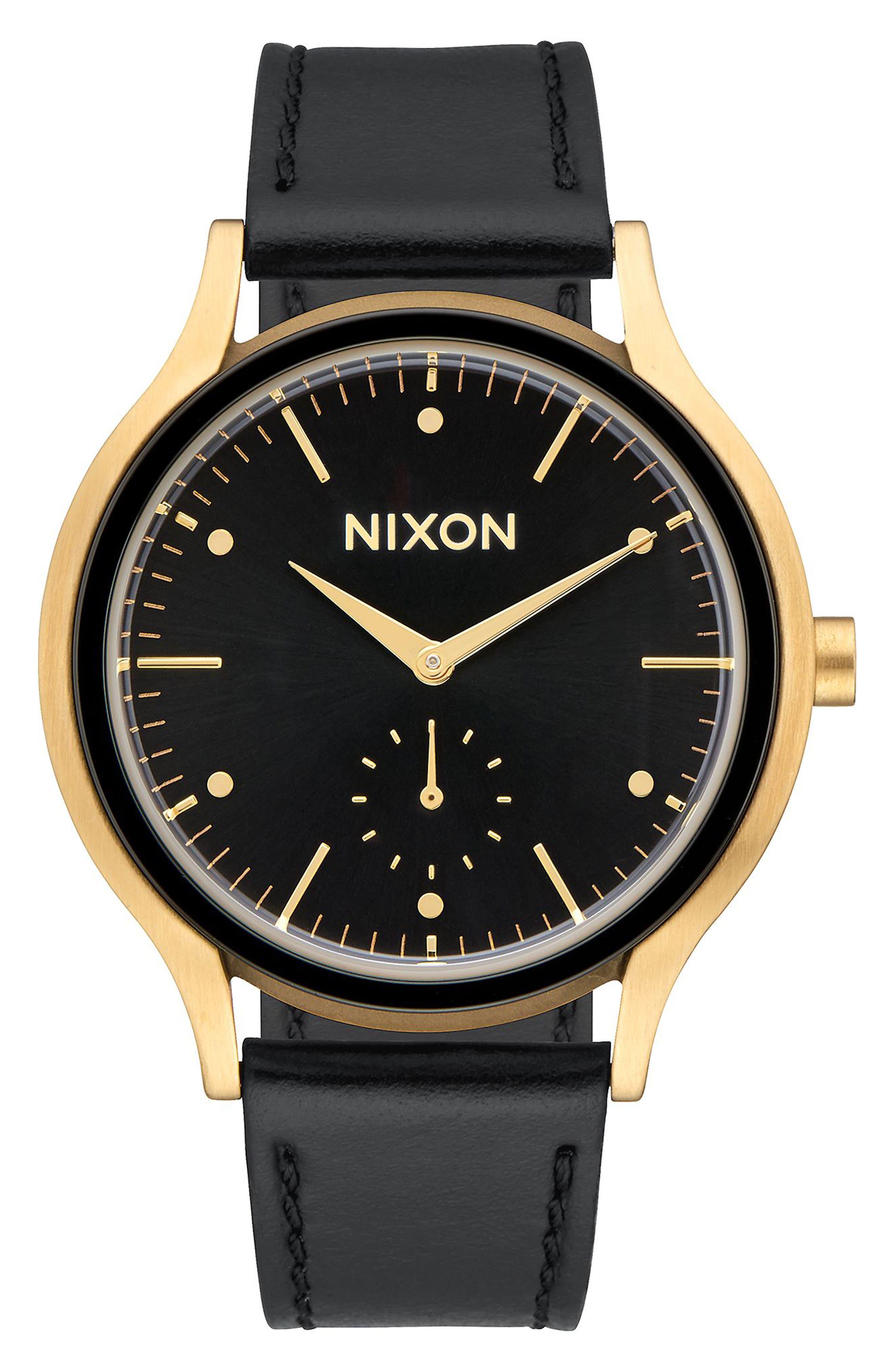 Nixon Sala Leather Strap Watch, 38mm