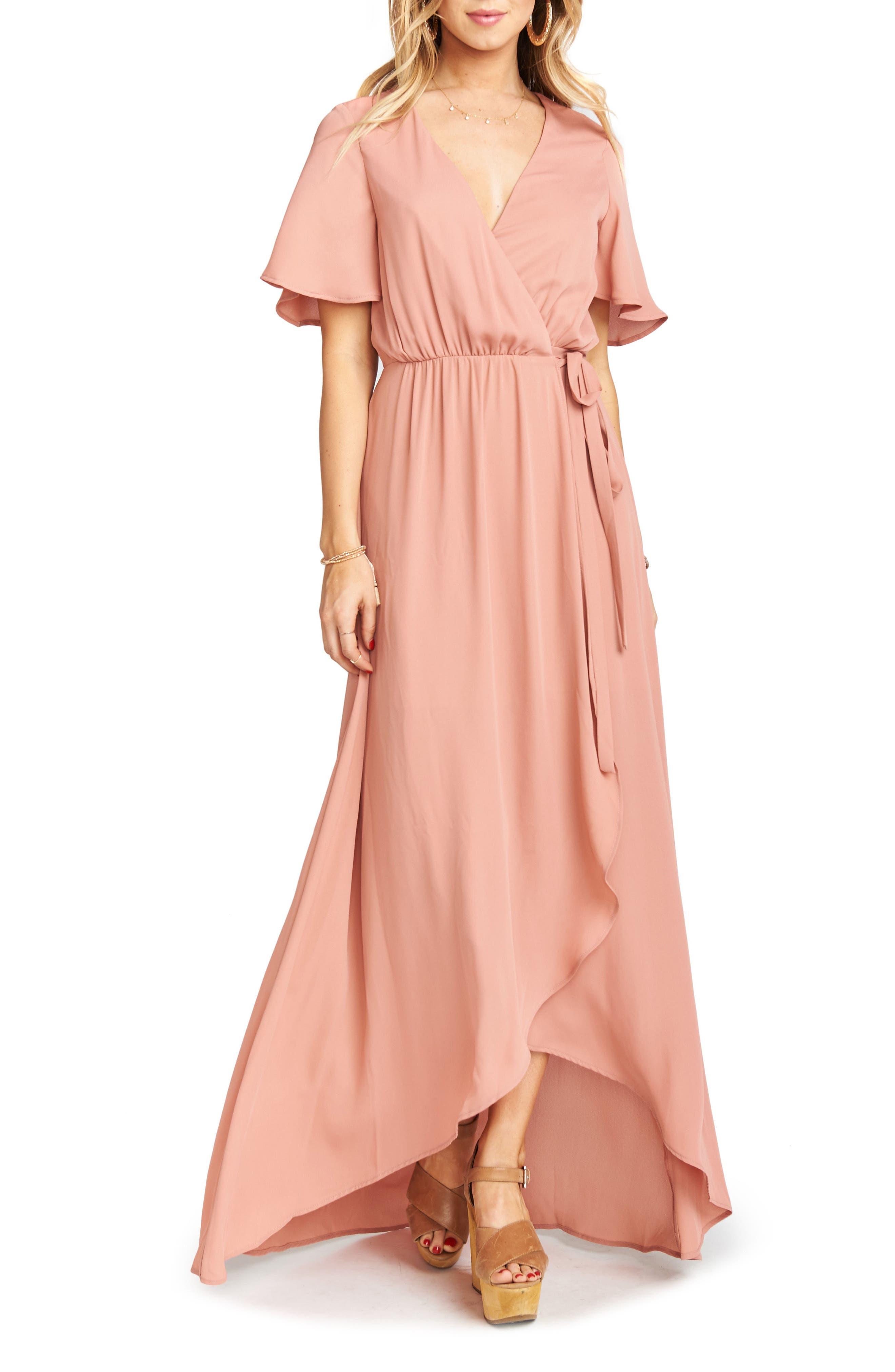 Sophia Wrap Dress,                         Main,                         color, Rustic Mauve