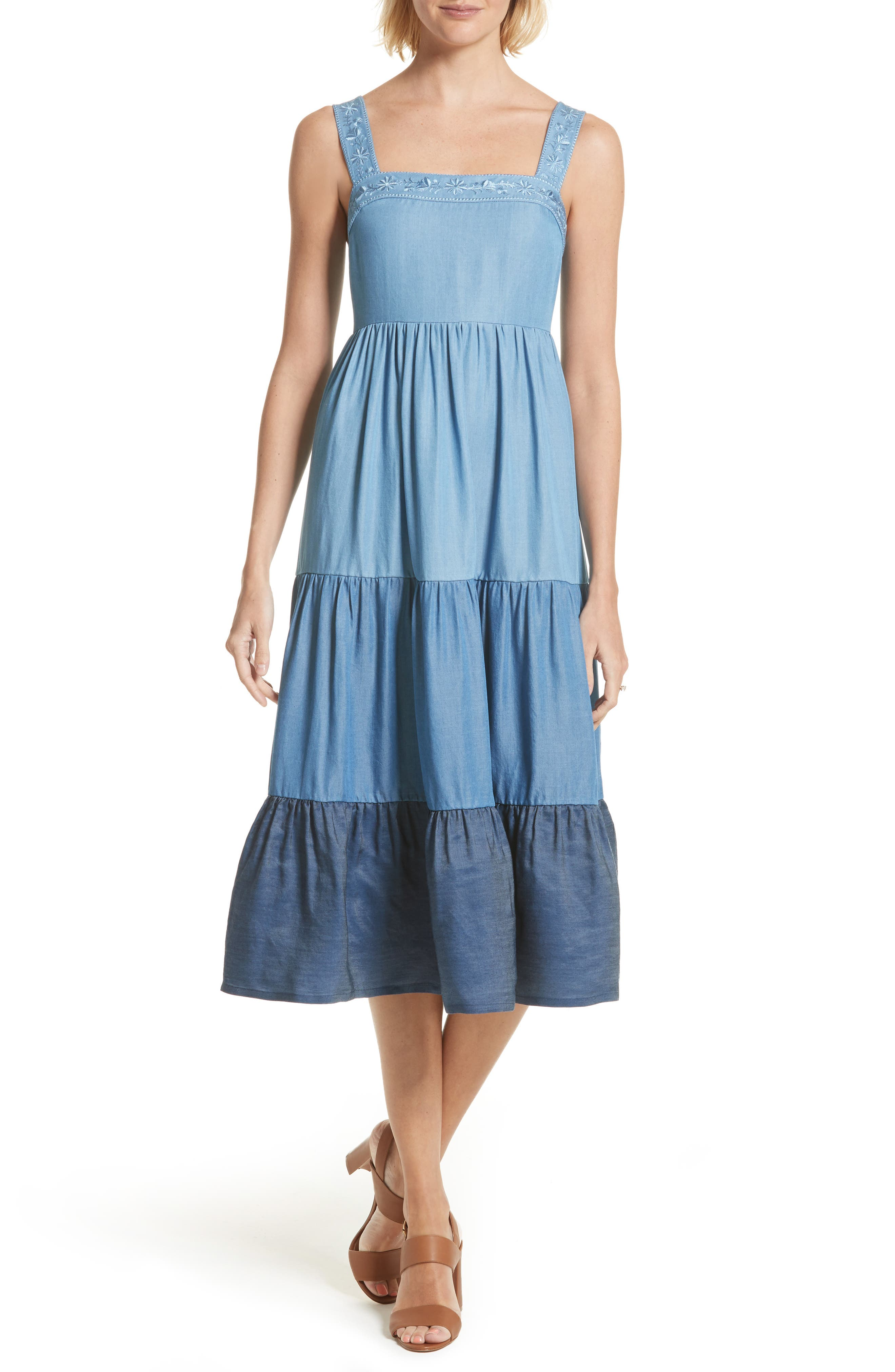 kate spade new york chambray patio dress