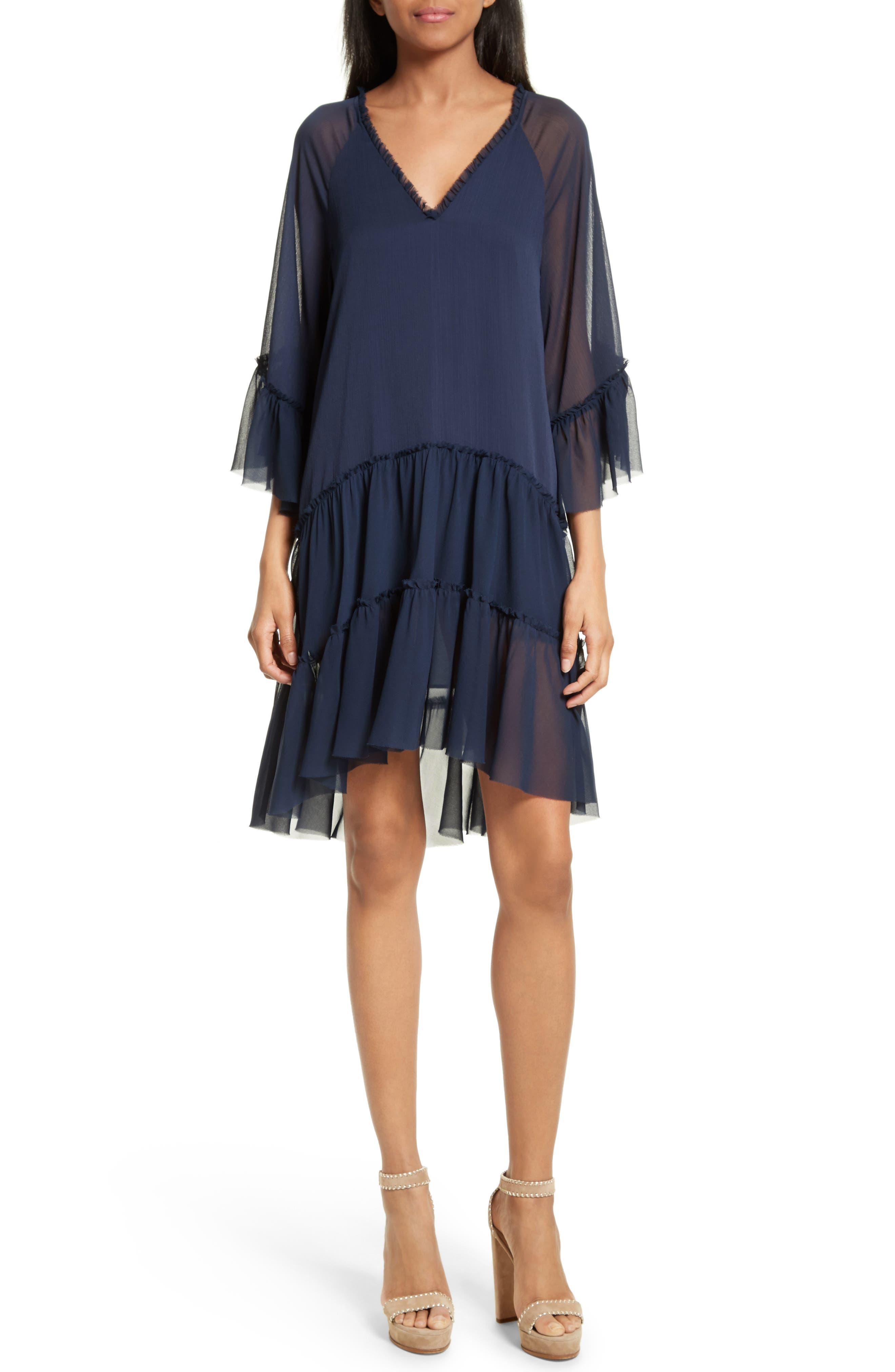 Zoey Drop Waist Dress,                         Main,                         color, Sapphire