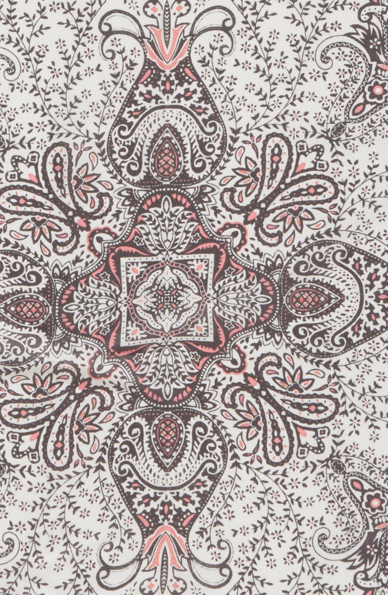 Handkerchief Paisley Silk Scarf,                             Alternate thumbnail 4, color,                             Pale Nude