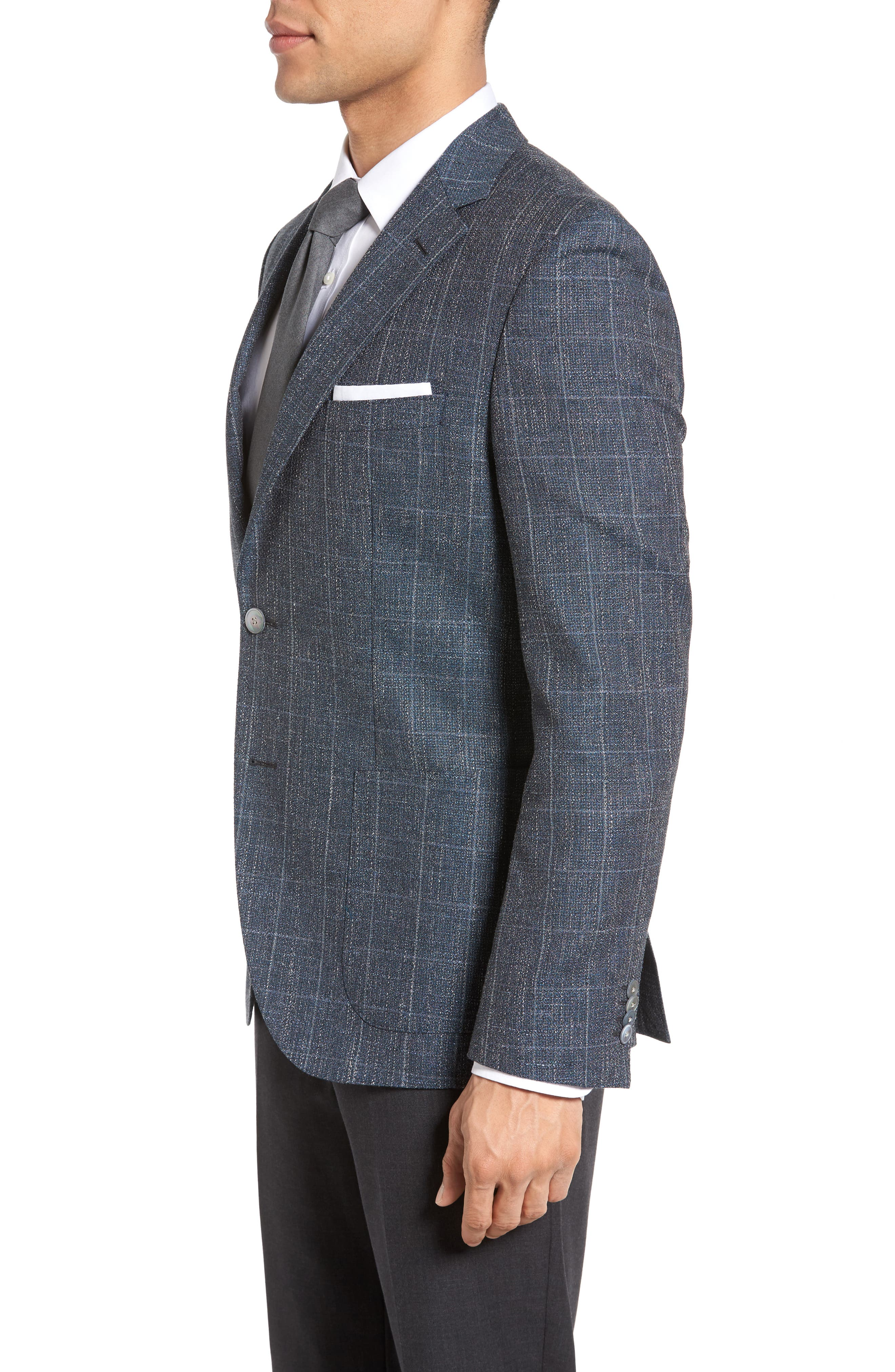 Alternate Image 3  - BOSS Janson Trim Fit Windowpane Wool Blend Sport Coat