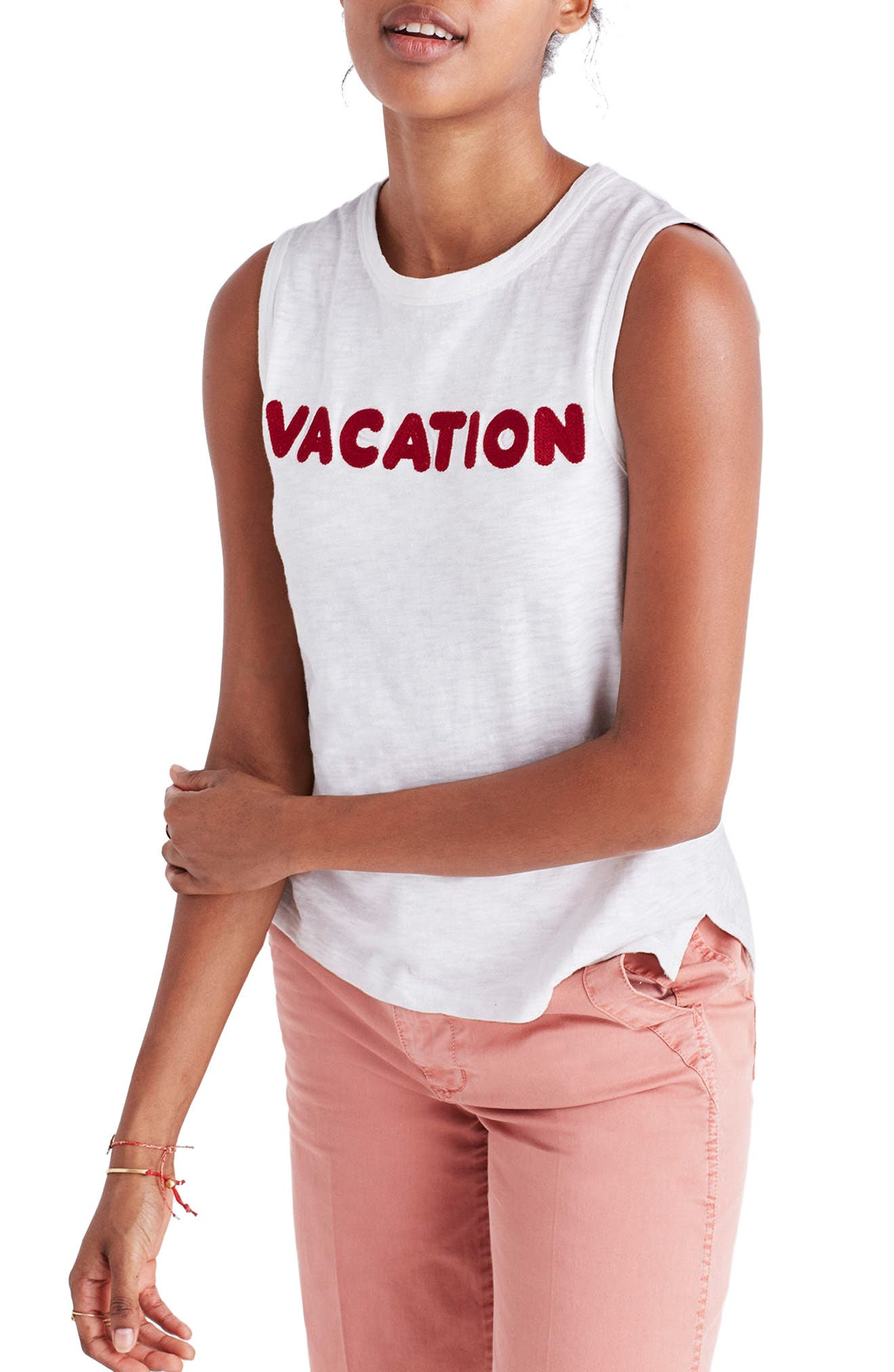 Alternate Image 1 Selected - Madewell Vacation Embroidered Tank