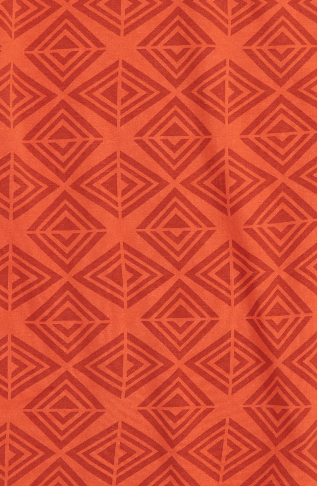 Geometric T-Shirt,                             Alternate thumbnail 2, color,                             Rust Rooibos Geo Diamond