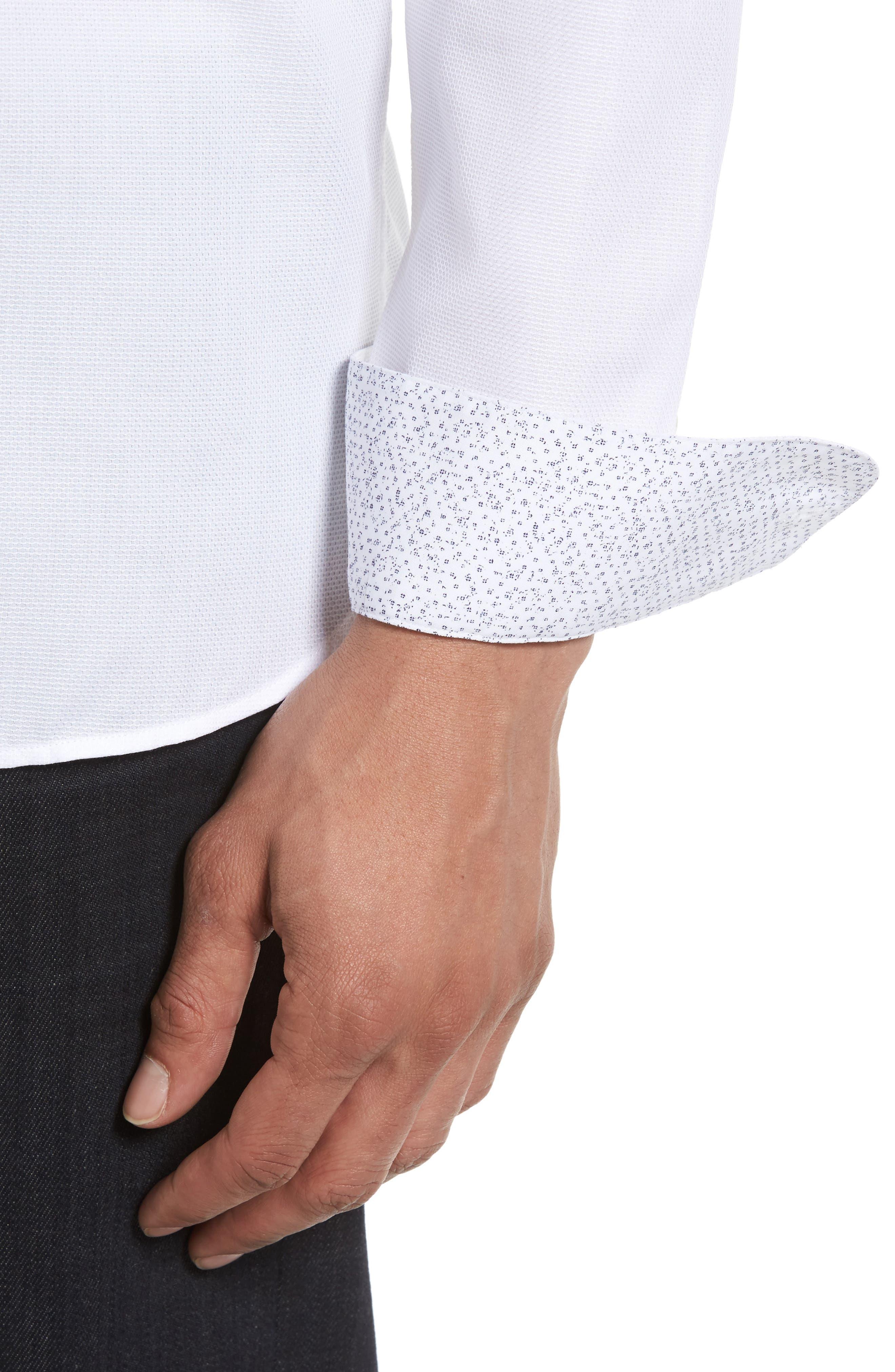 Alternate Image 4  - Ted Baker London Nordlux Modern Slim Fit Stretch Cotton Sport Shirt