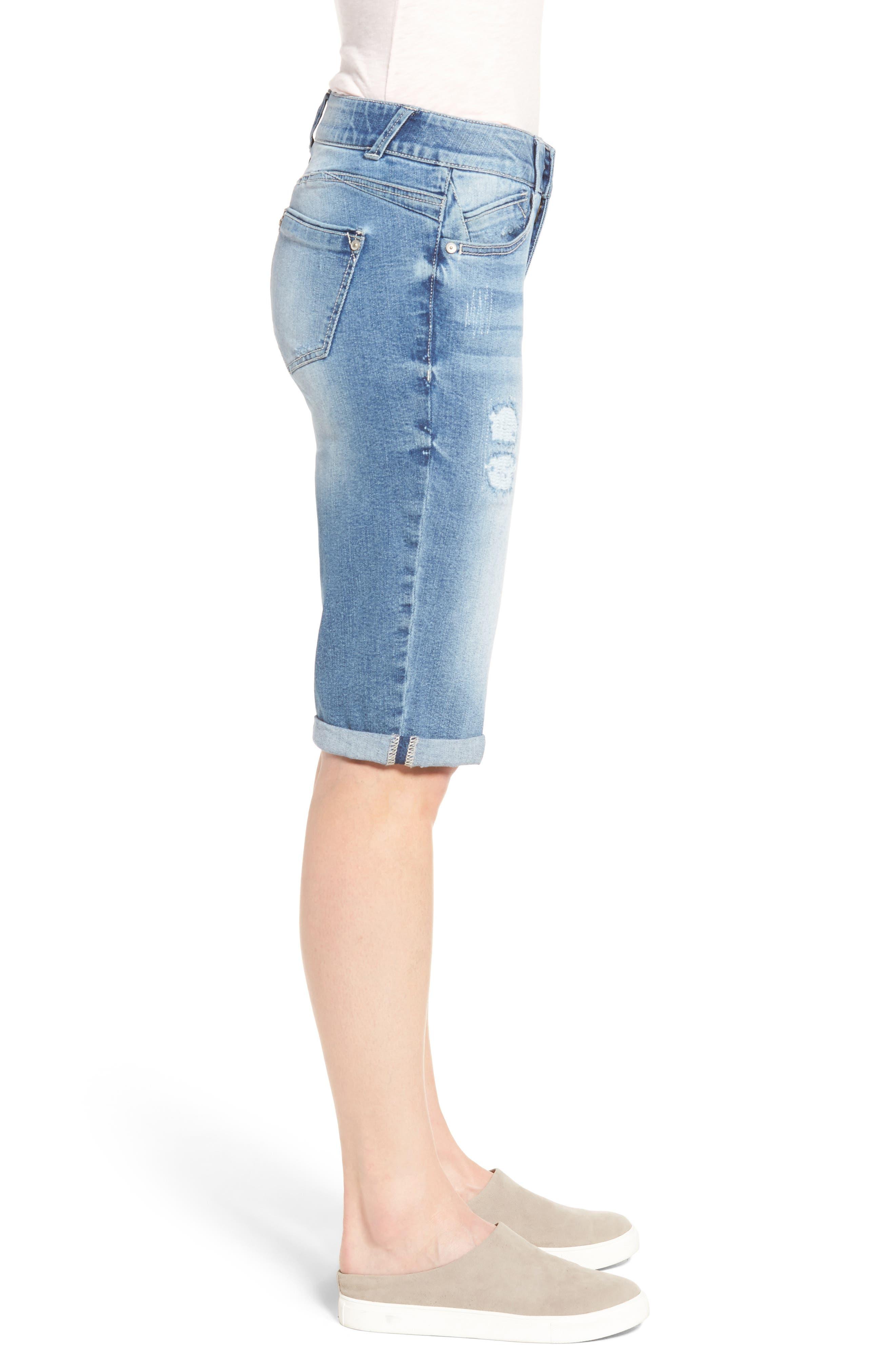 Alternate Image 3  - Wit & Wisdom Ab-solution Ripped Denim Bermuda Shorts (Regular & Petite) (Nordstrom Exclusive)